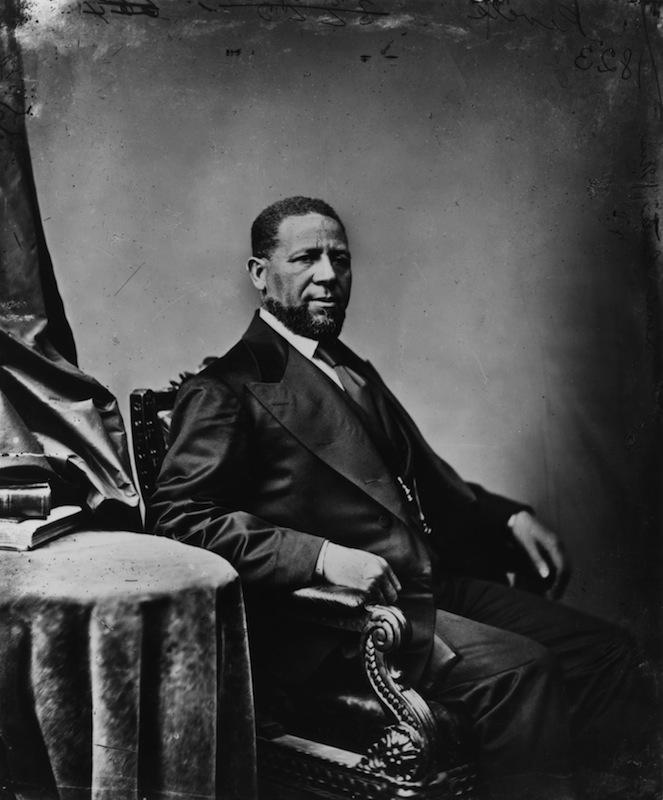 circa 1870: Hiram R Revels