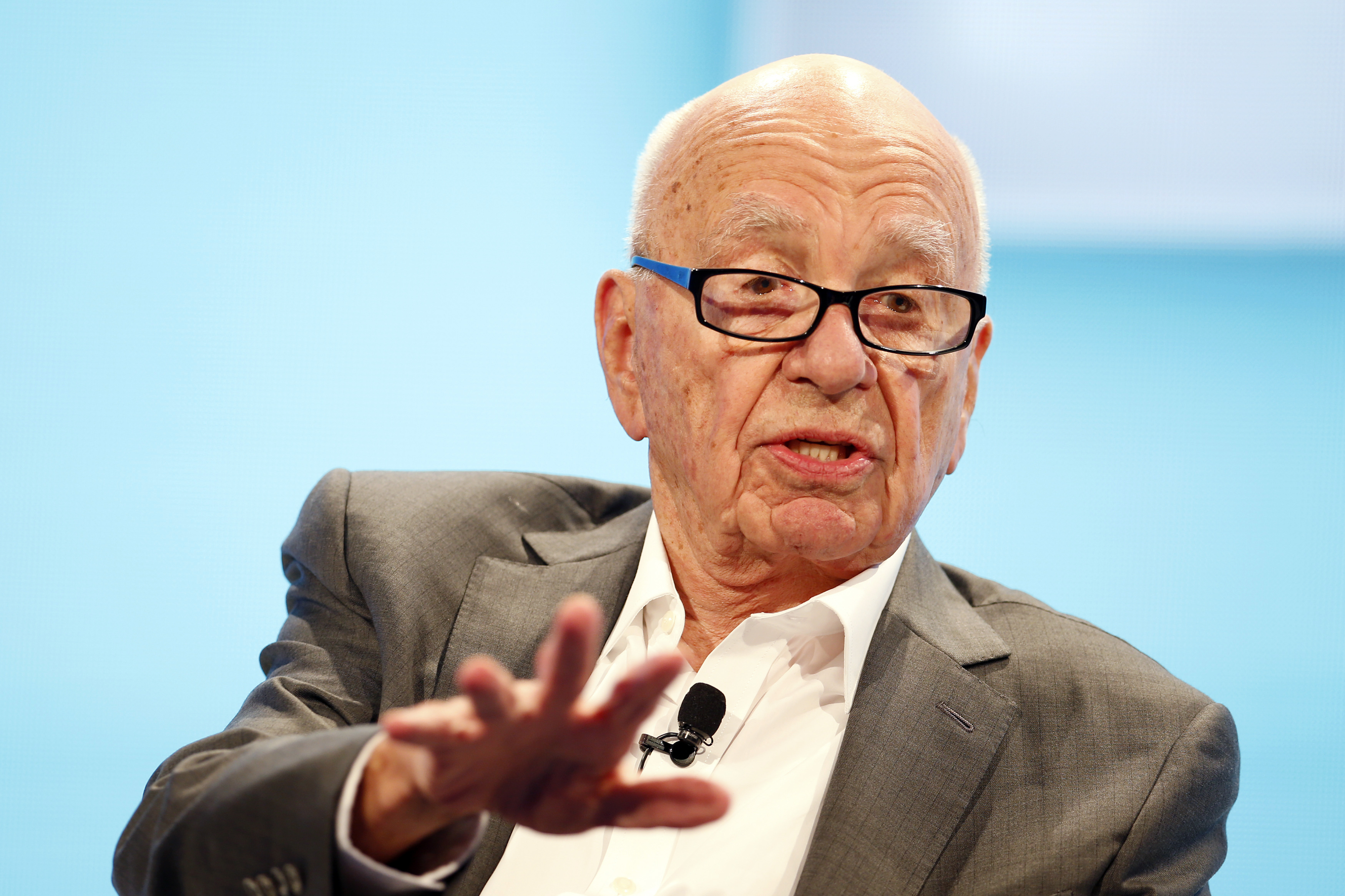 Rupert Murdoch, Executive Chairman News Corp and Chairman and CEO 21st Century Fox speaks at the WSJD Live conference in Laguna Beach, California October 29, 2014.