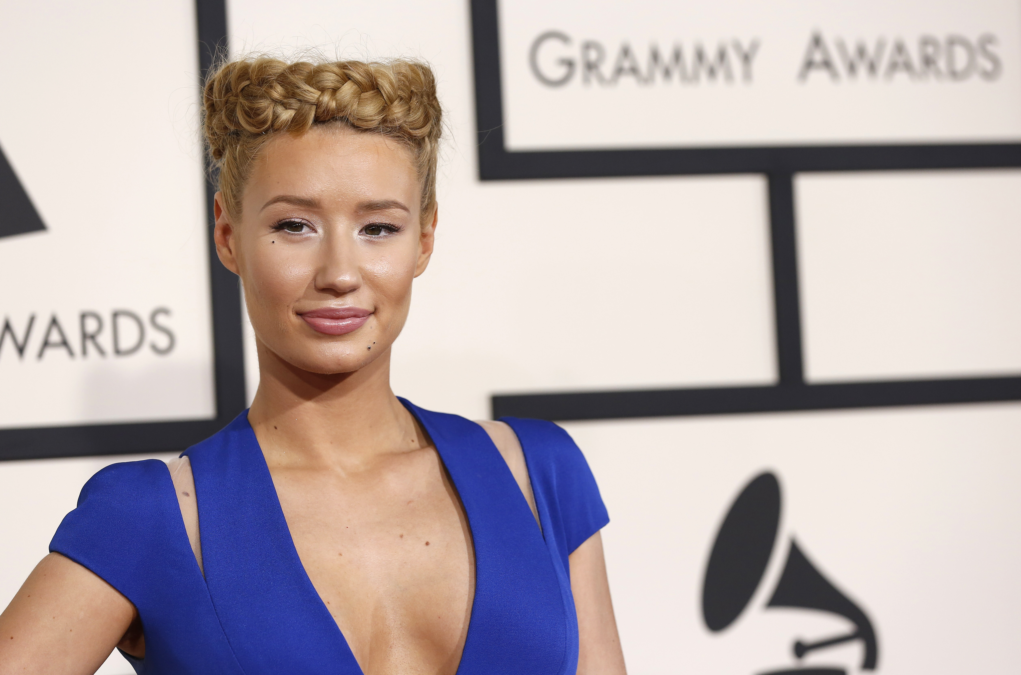 Rapper Iggy Azalea arrives at the 57th annual Grammy Awards in Los Angeles, California Feb. 8, 2015
