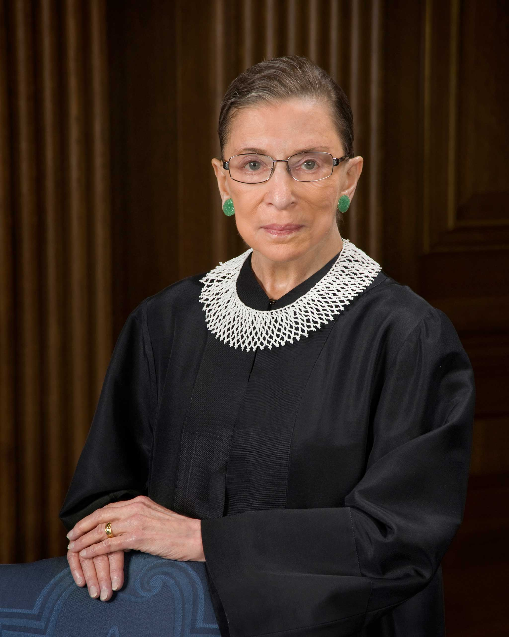 Official portrait of Justice Ruth Bader Ginsburg
