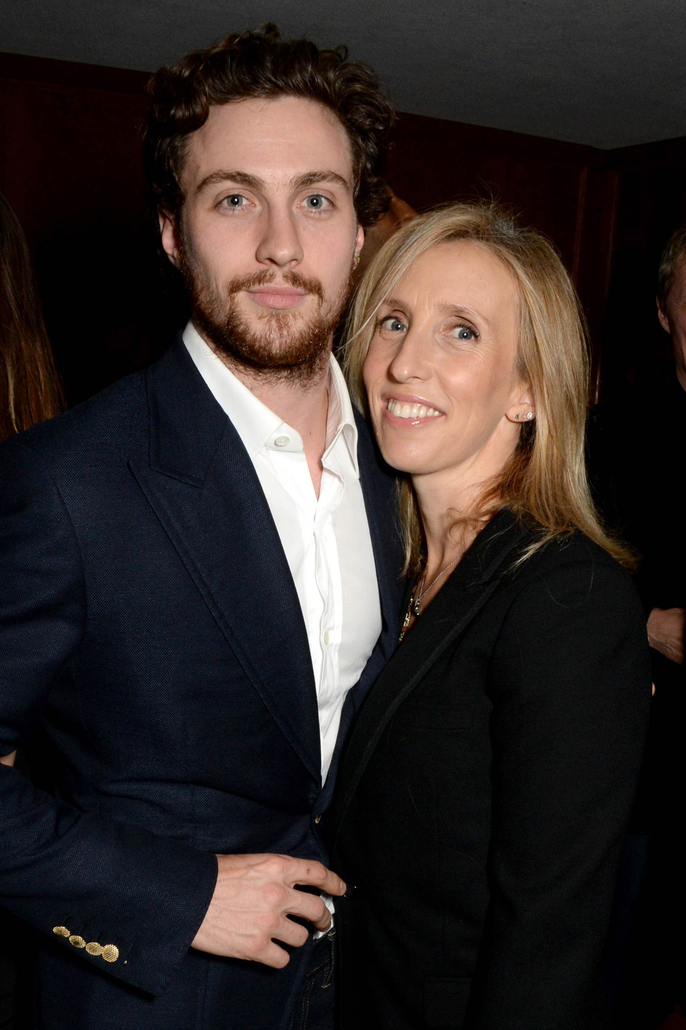 Aaron Taylor-Johnson and Sam Taylor-Johnson attend the Teen Cancer America Fundraiser on Oct. 28, 2014 in Los Angeles, Calif.