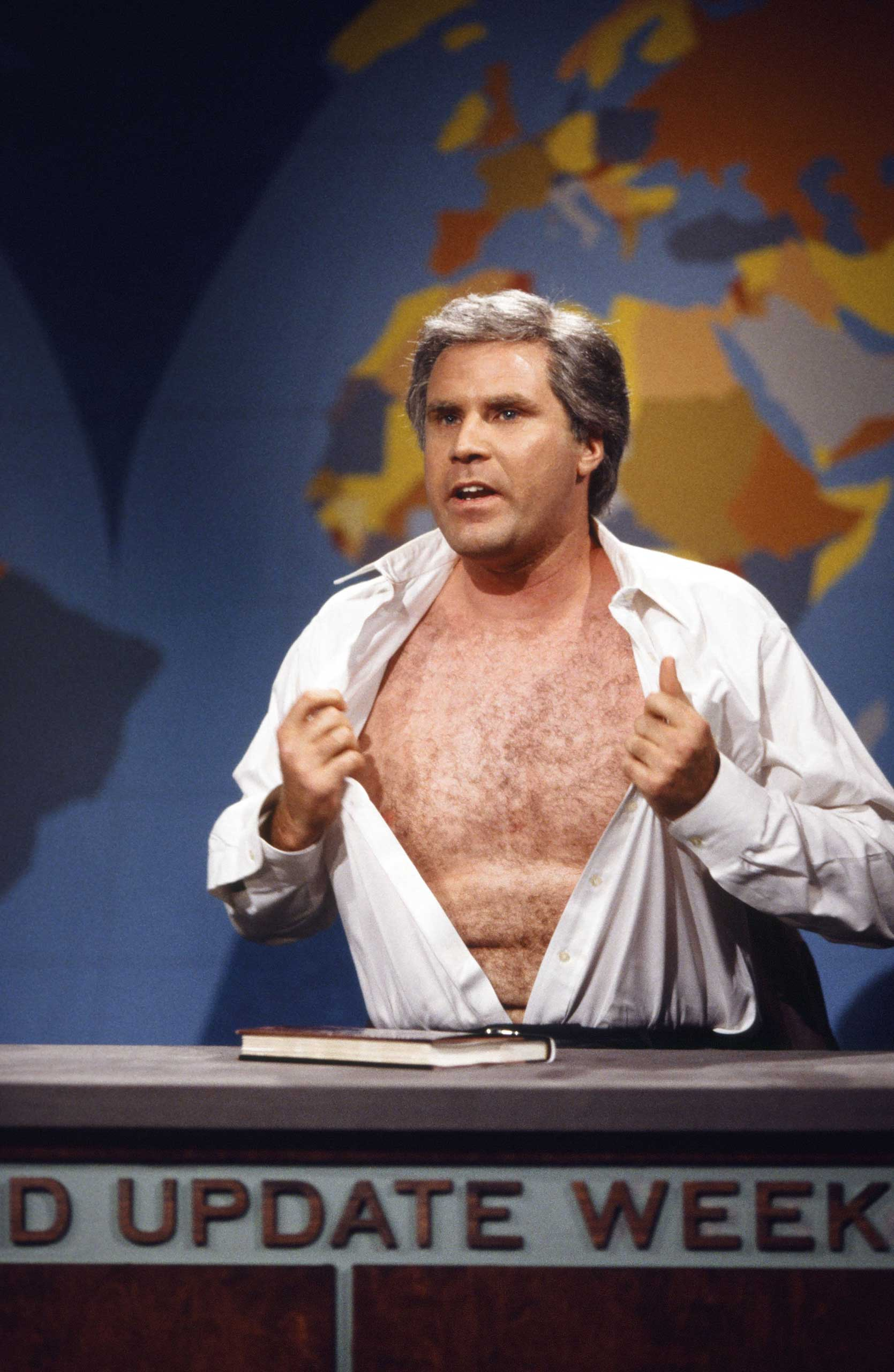 Will Ferrell as George W. Bush during the 'Weekend Update' skit on Nov. 20, 1999.