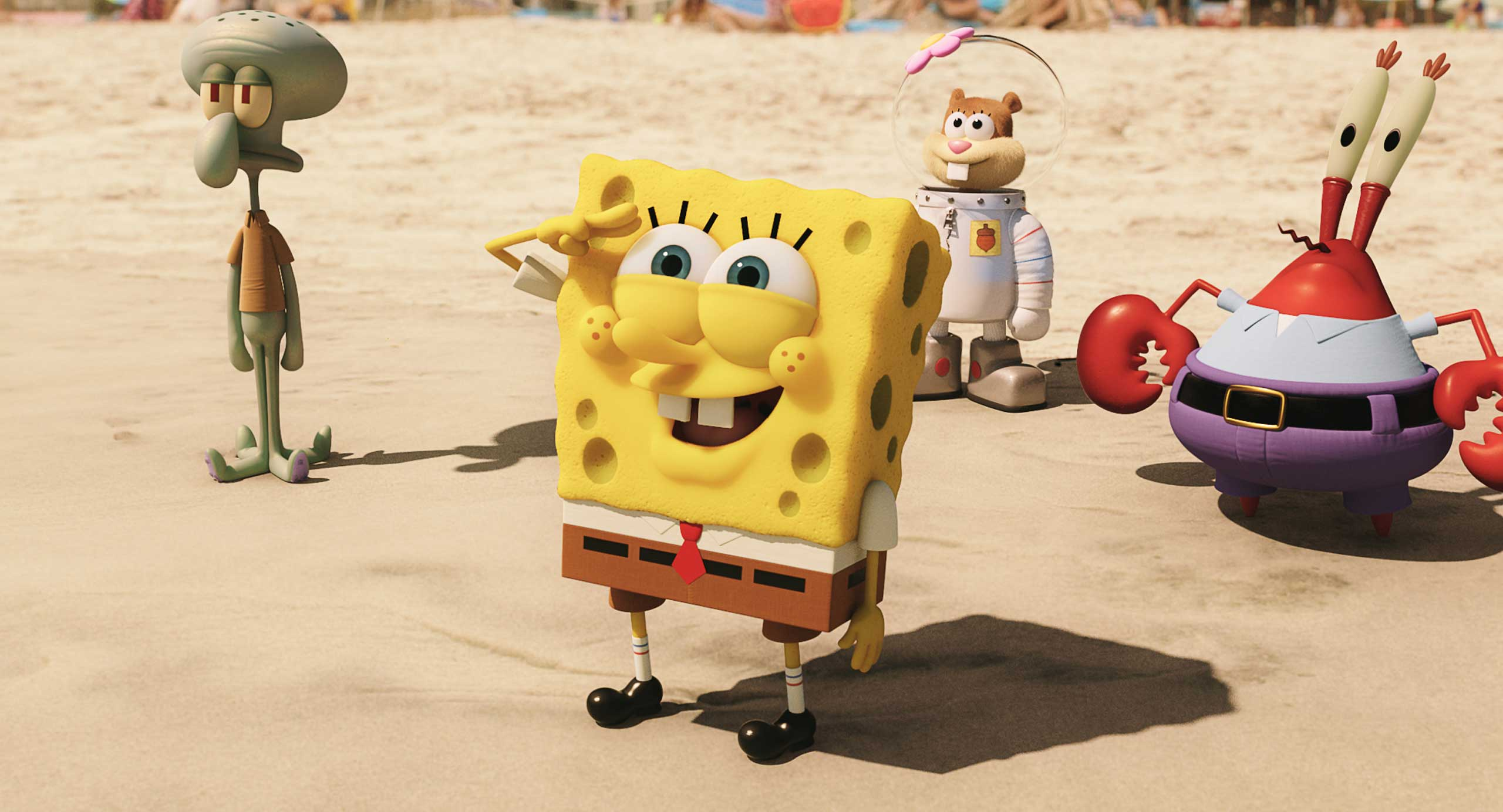 The Spongebob Movie: Sponge Out of Water, from Paramount Pictures and Nickelodeon Movies.