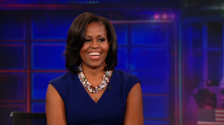First Lady Michelle Obama has appeared twice on the Daily Show, once in 2008 and twice in 2012