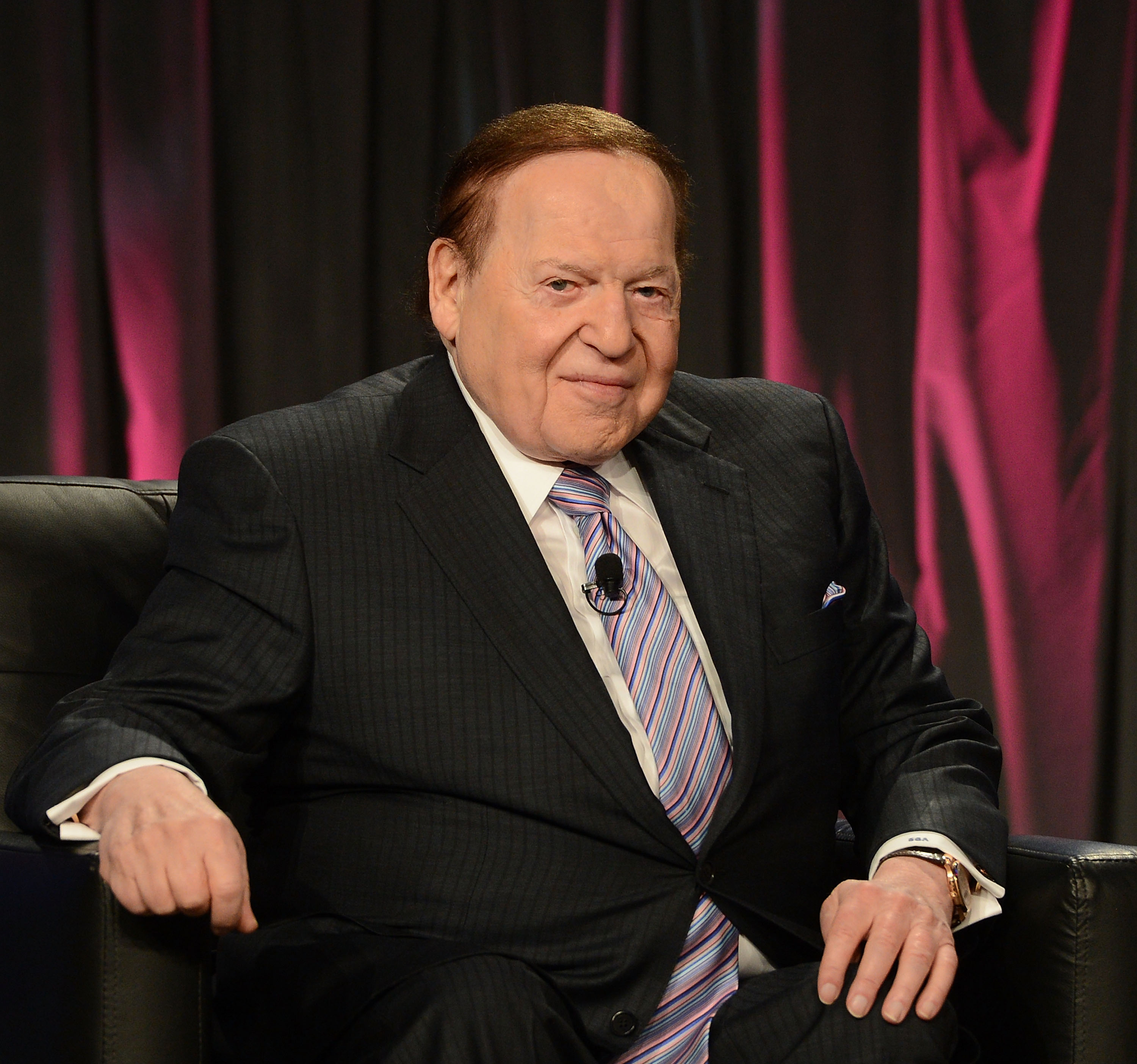 Chairman & CEO of Las Vegas Sands Corp., Sheldon Adelson speaks at the Exclusive Seminar: Keynote at the 14th Annual Global Gaming Expo at the Sands Expo and Convention Center on Oct. 1, 2014 in Las Vegas.