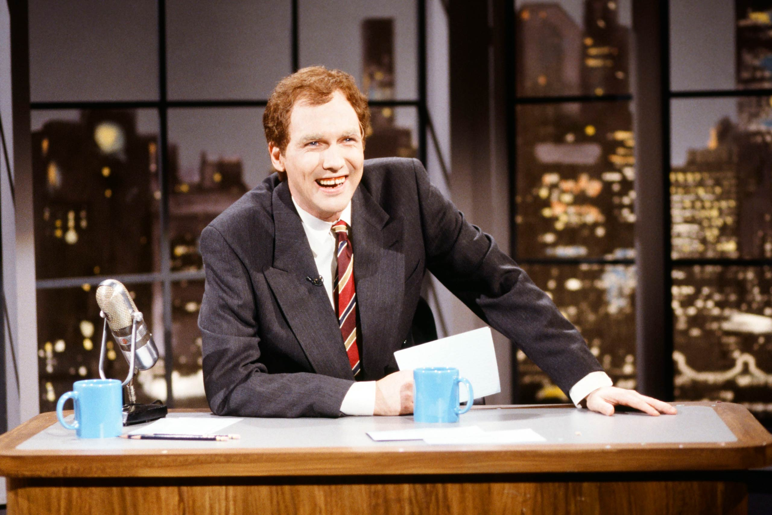 Norm MacDonald as David Letterman in 1997.