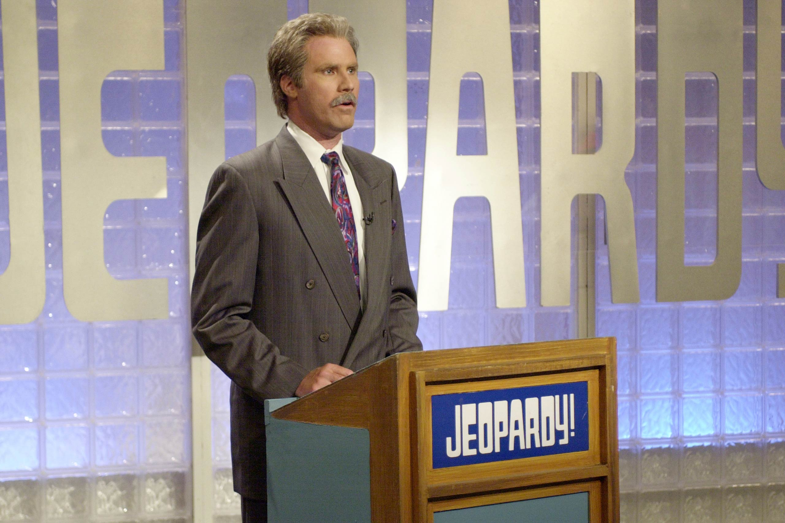 Will Ferrell as Alex Trebek in 2002.