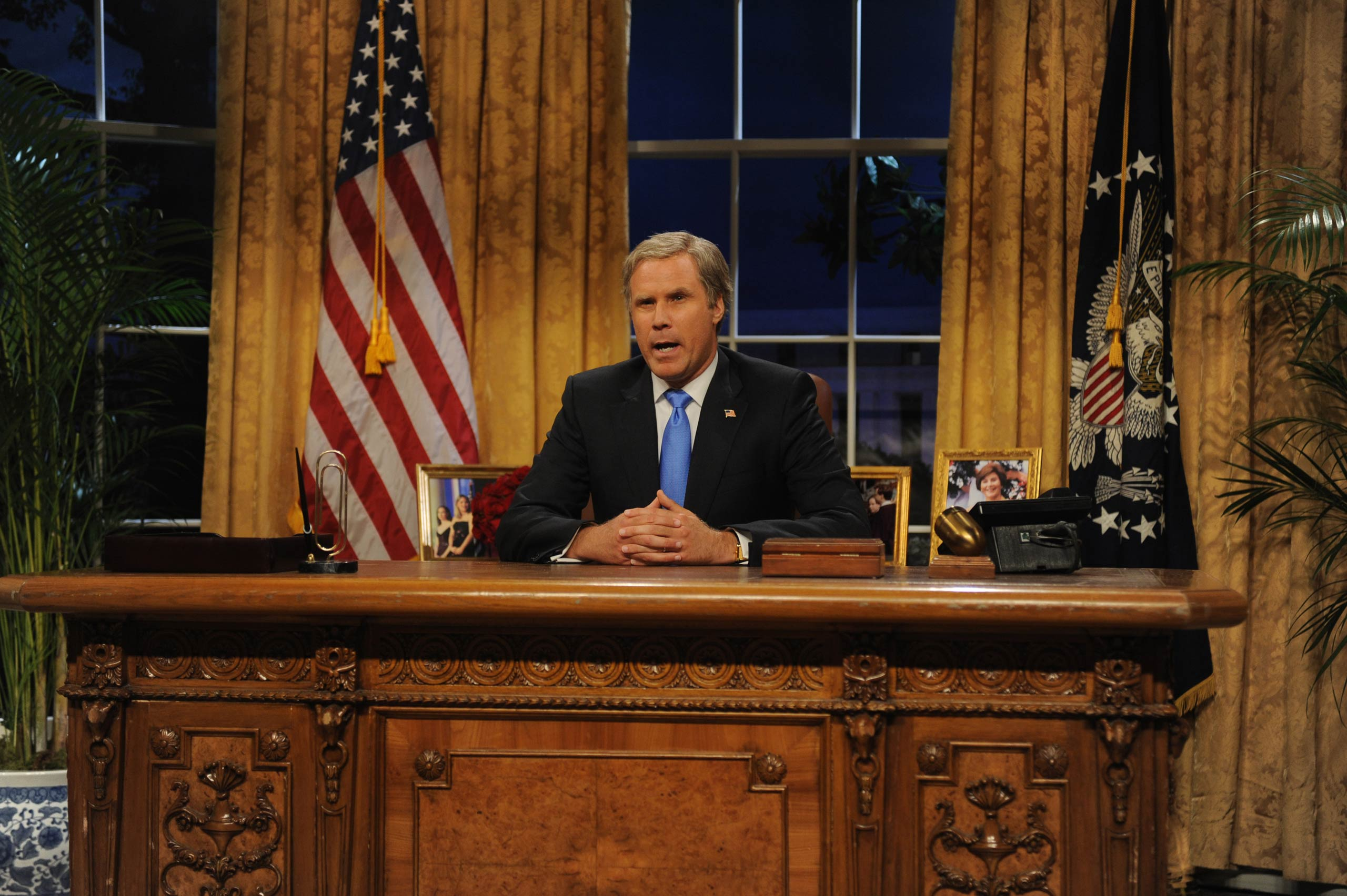 Will Farrell as President George W. Bush in 2008.