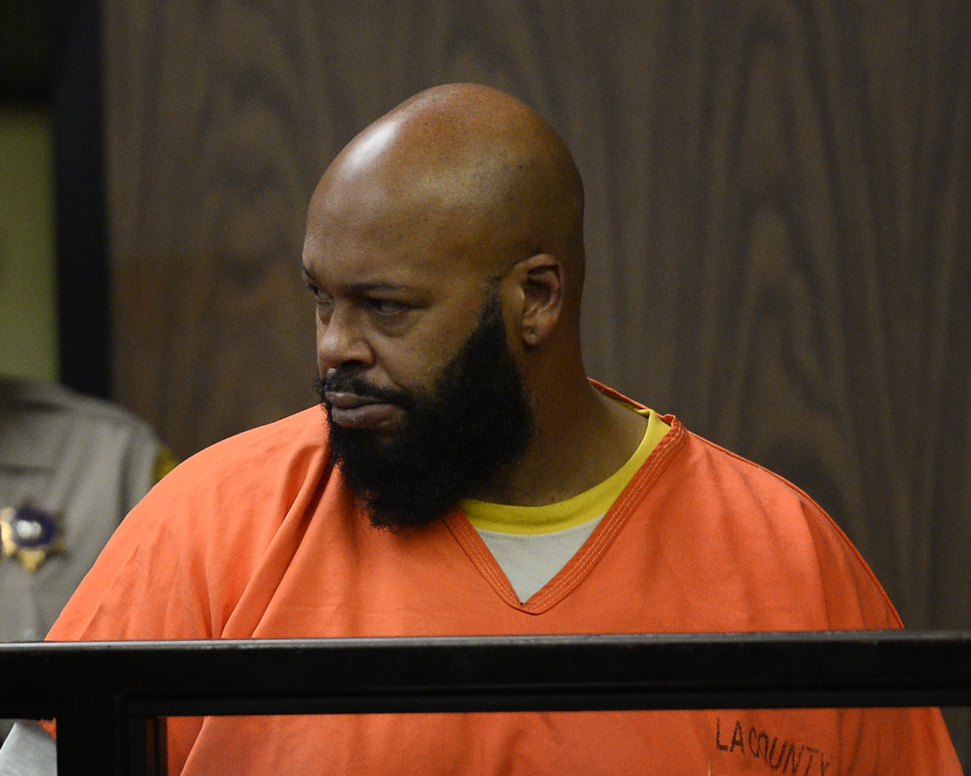 Marion  Suge  Knight appears in a court during his arraignment, Tuesday, Feb. 3, 2015 in Compton, Calif.