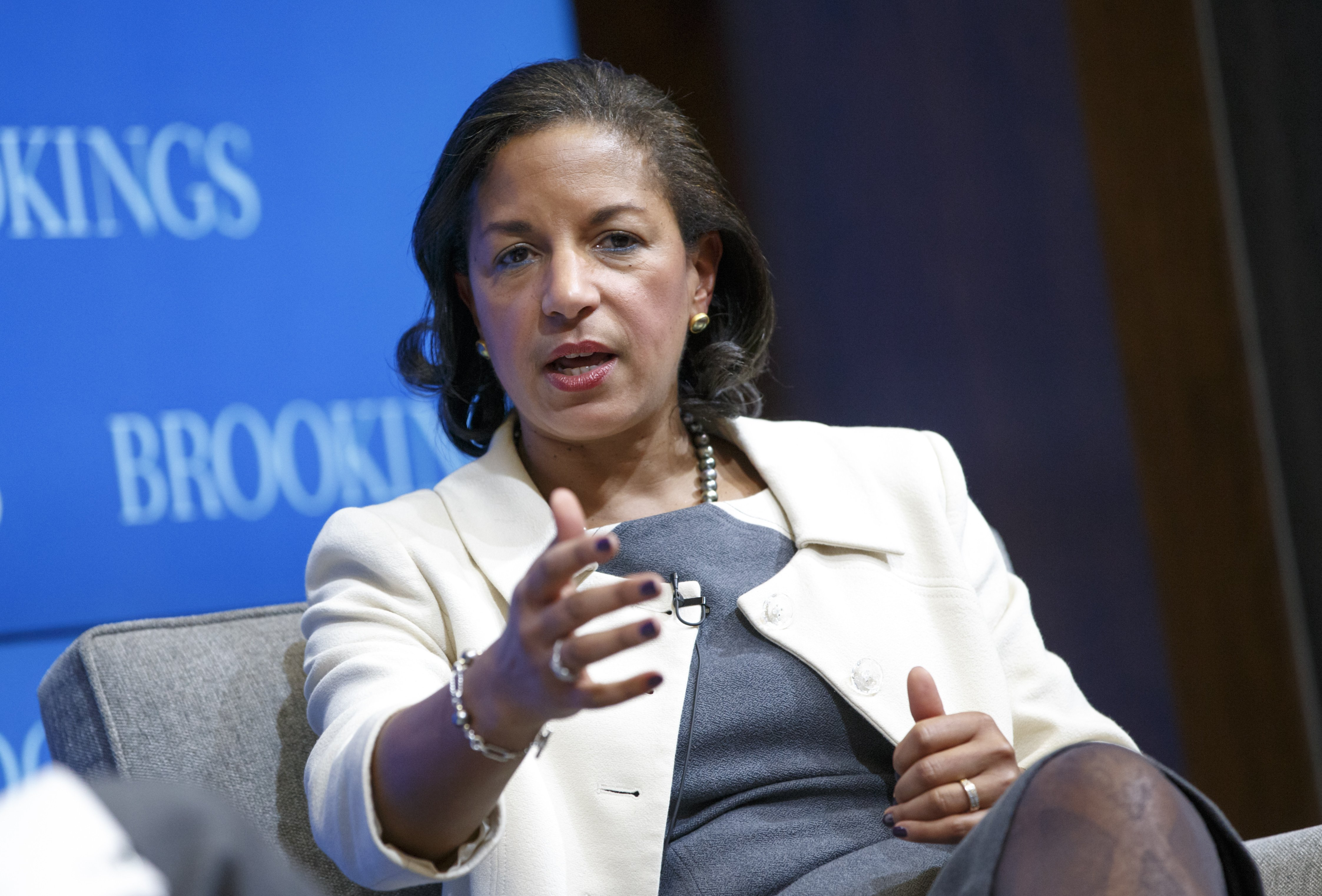 National Security Adviser Susan Rice speaks at the Brookings Institution to outline President Barack Obama's foreign policy priorities on Feb. 6, 2015, in Washington.