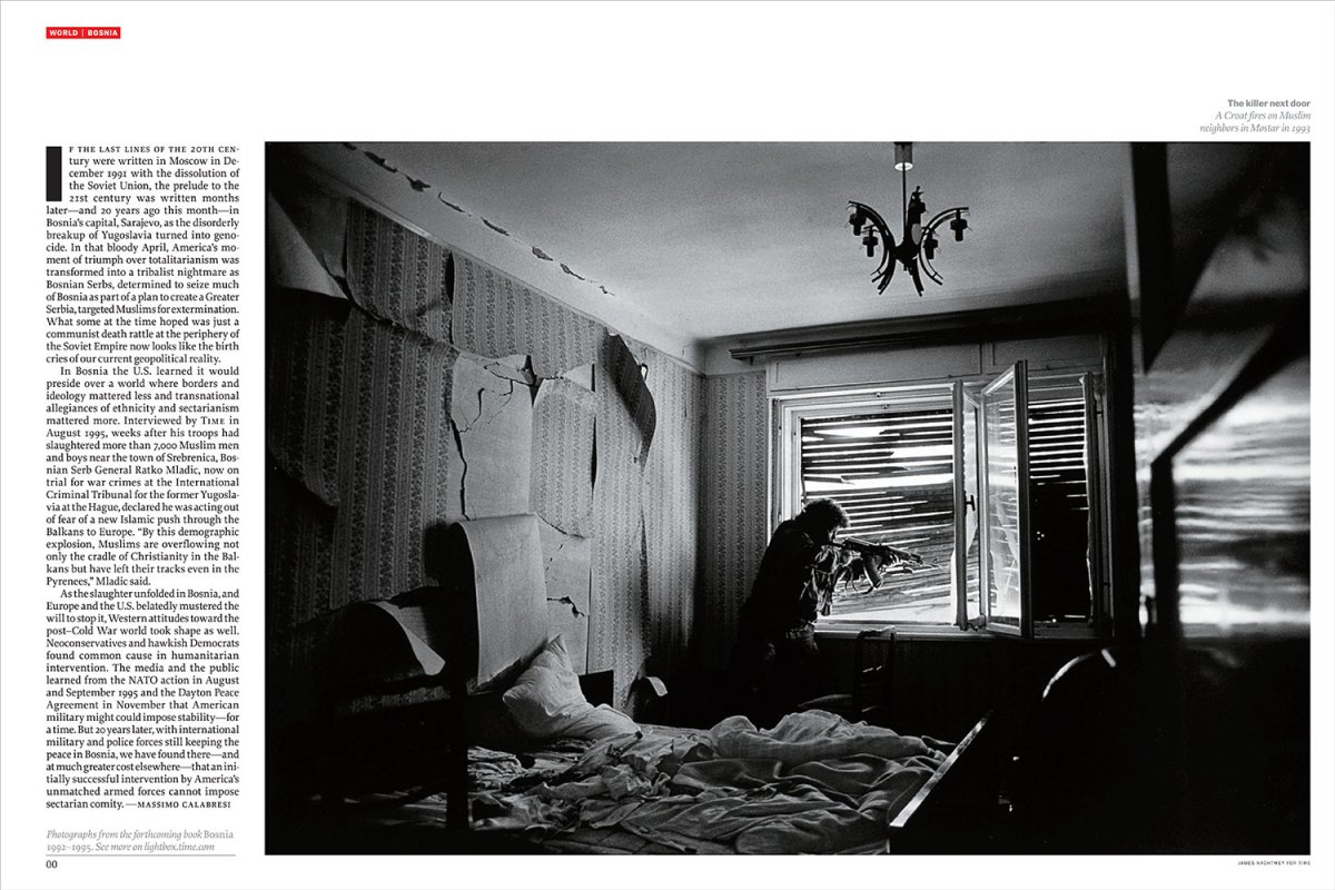 """From """"The Lessons of Bosnia."""" April 16, 2012 International issue."""