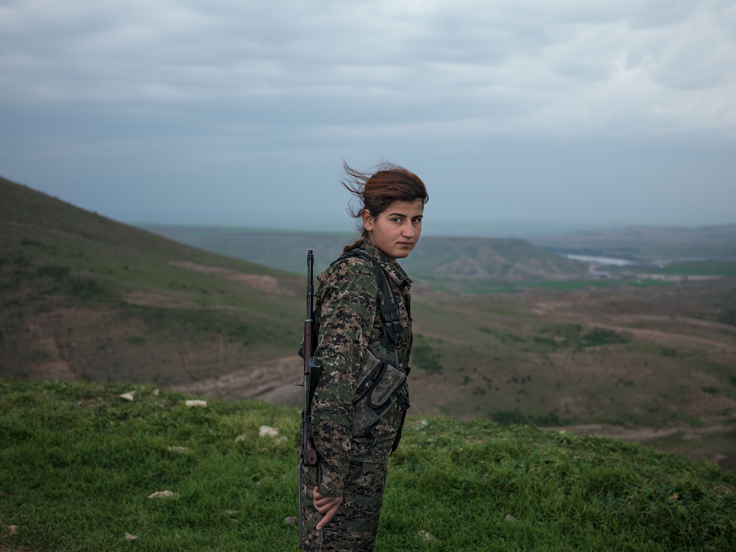Eighteen-year-old Kurdish fighter Torin Khairegi.From  Fight For Their Rights.  April 20, 2015 issue.