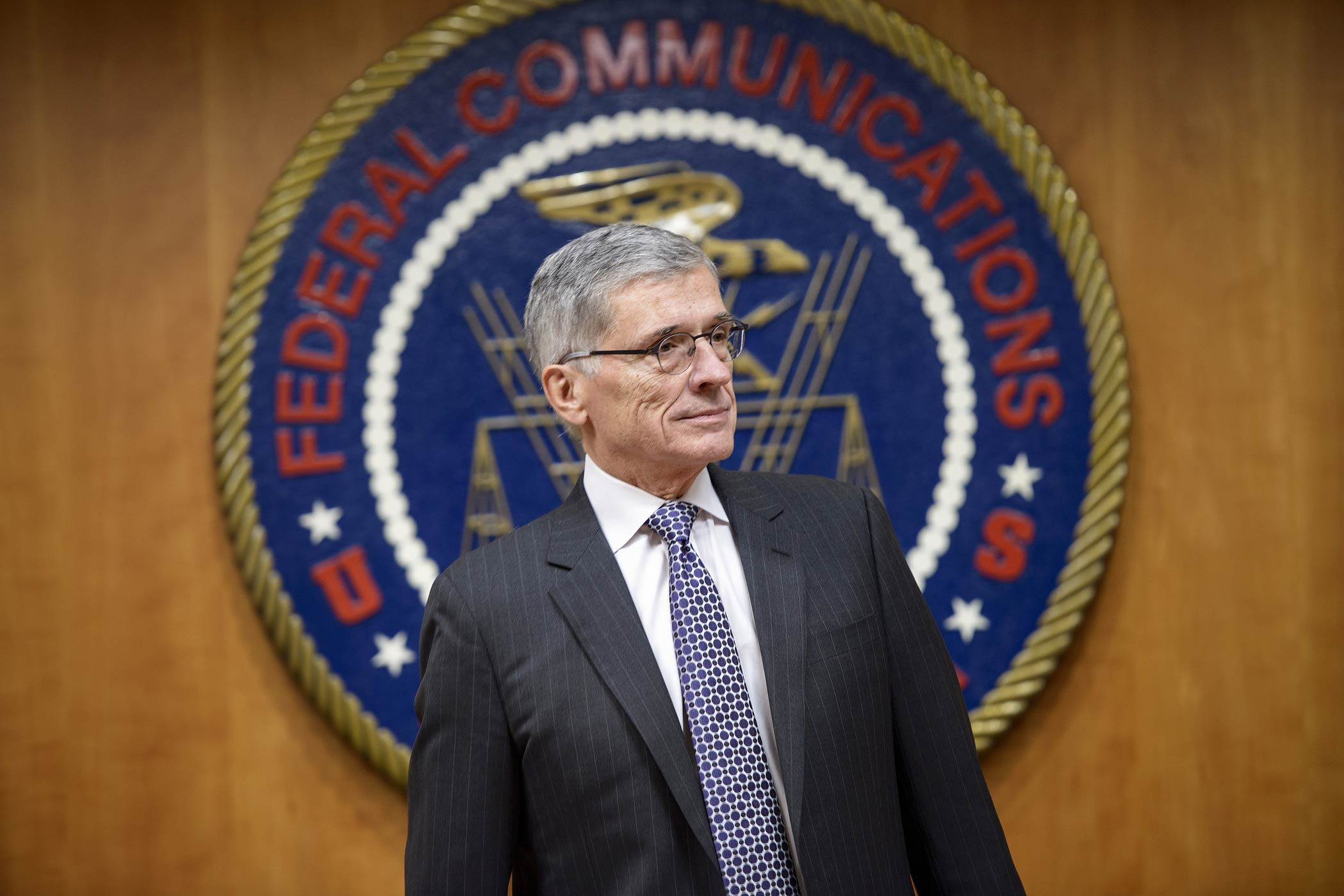 Federal Communication Commission Chairman Tom Wheeler waits for a hearing at the FCC on Dec. 11, 2014 in Washington, DC.