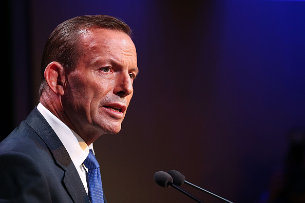 Prime Minister Tony Abbott during his speech on National Security at the Australian Federal Police headquarters on February 23, 2015 in Canberra, Australia.