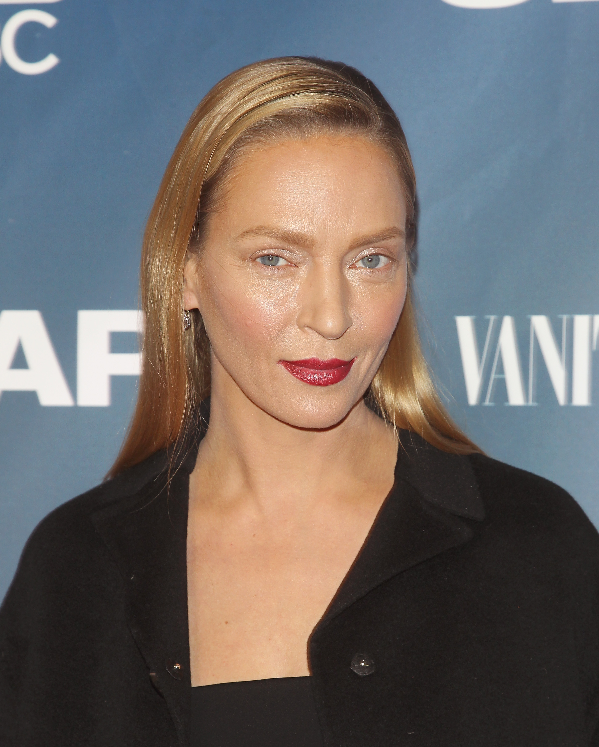 Actress Uma Thurman attends  The Slap  premiere party at The New Museum on Feb. 9, 2015 in New York City.
