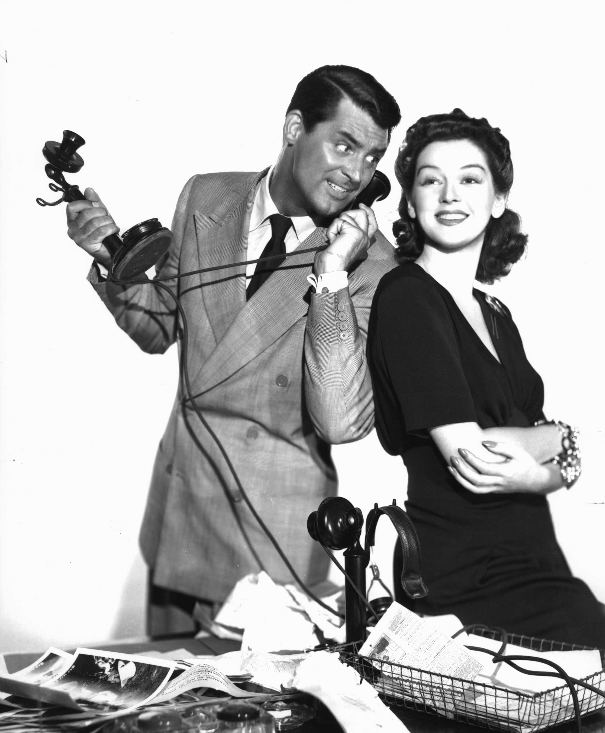 <strong>Walter Burns and Hildy Johnson - <i>His Girl Friday</i>, 1940</strong>