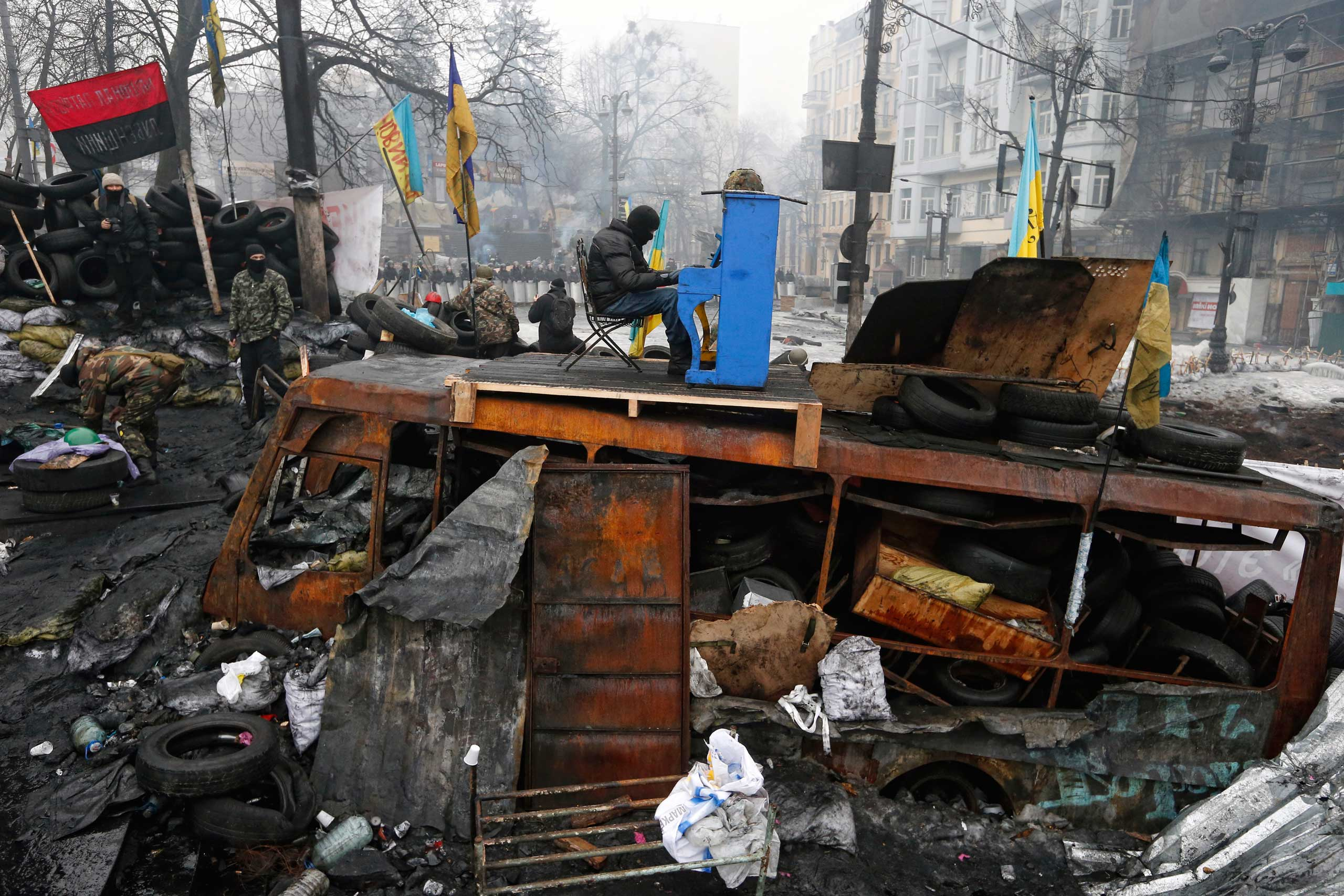 Nominated in the Current Affairs category. Vladyslav Musiienko's work on the protests in Kiev.