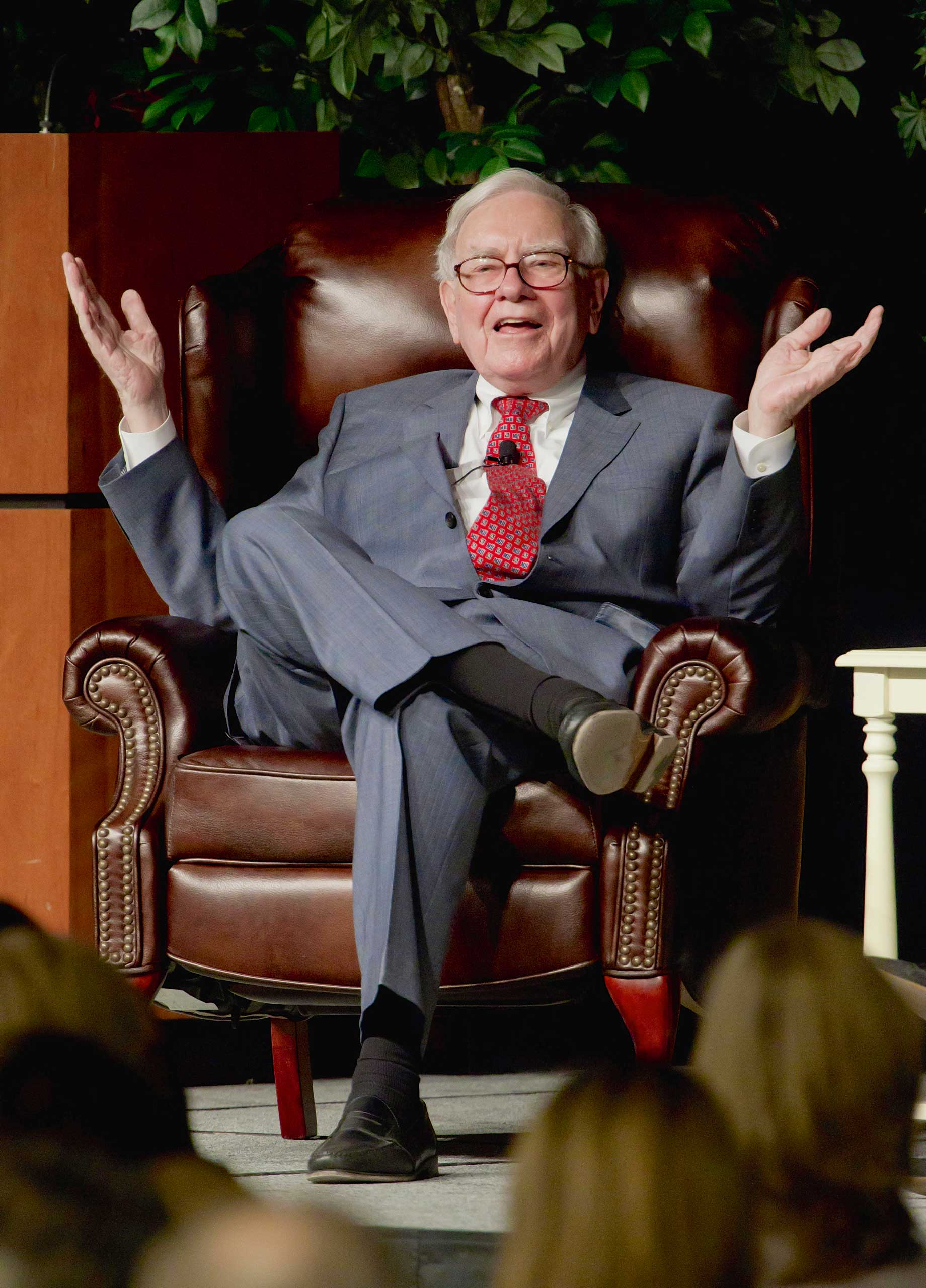 Billionaire investor Warren Buffett speaks in Omaha, Neb., Nov. 14, 2011. Buffett's annual letter to Berkshire Hathaway shareholders is always one of the best-read business documents of the year. The 2015 letter marks the 50th year of Buffett's leadership.
