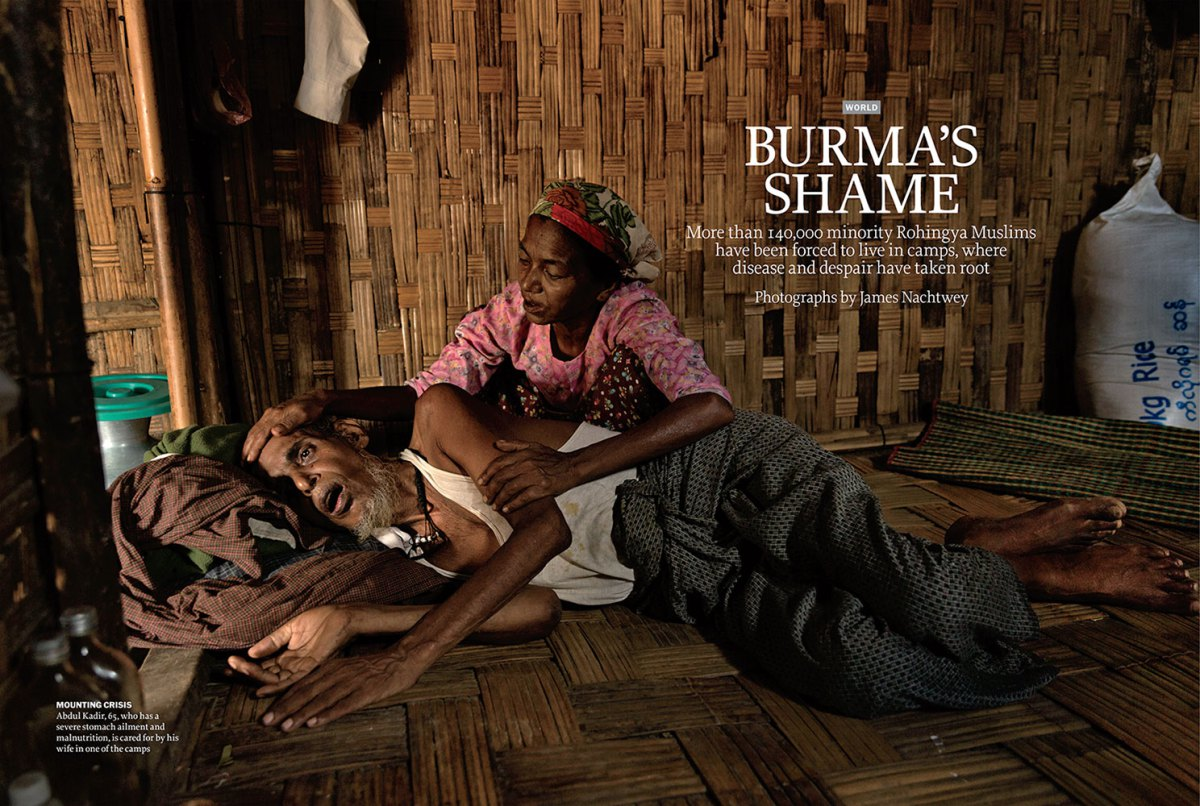 """From """"Burma's Shame."""" July 21, 2014 issue."""