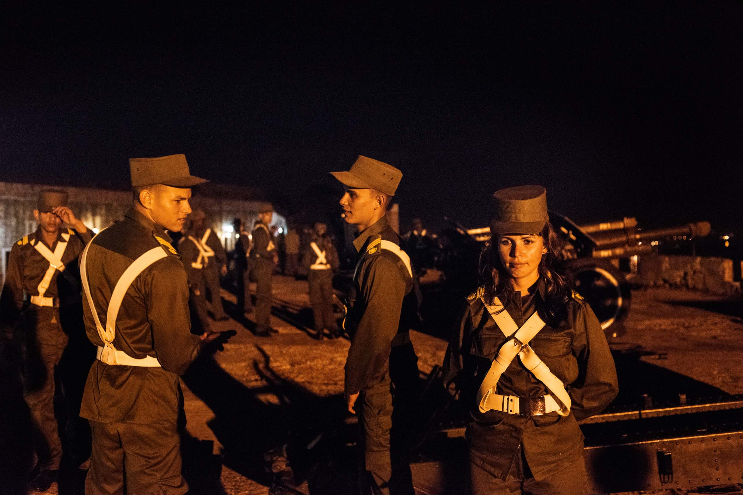 Jan. 1, 2015. Members of the military celebrate the New Year at the San Carlos de la Cabana Fort in Havana. The day also marks the anniversary of the day Fidel Castro assumed power in 1959.