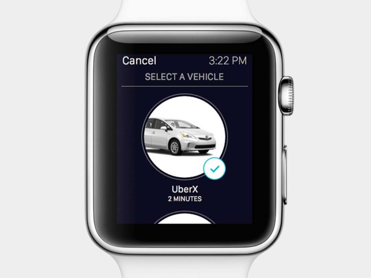Request a ride on Uber with Apple Watch. Without reaching for your phone.