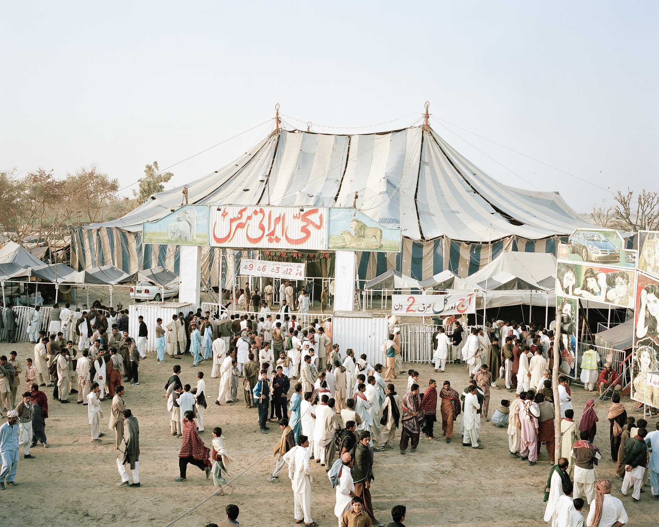 Lucky Irani Circus                               Circus tent in Khanpur, Sindh, Pakistan.