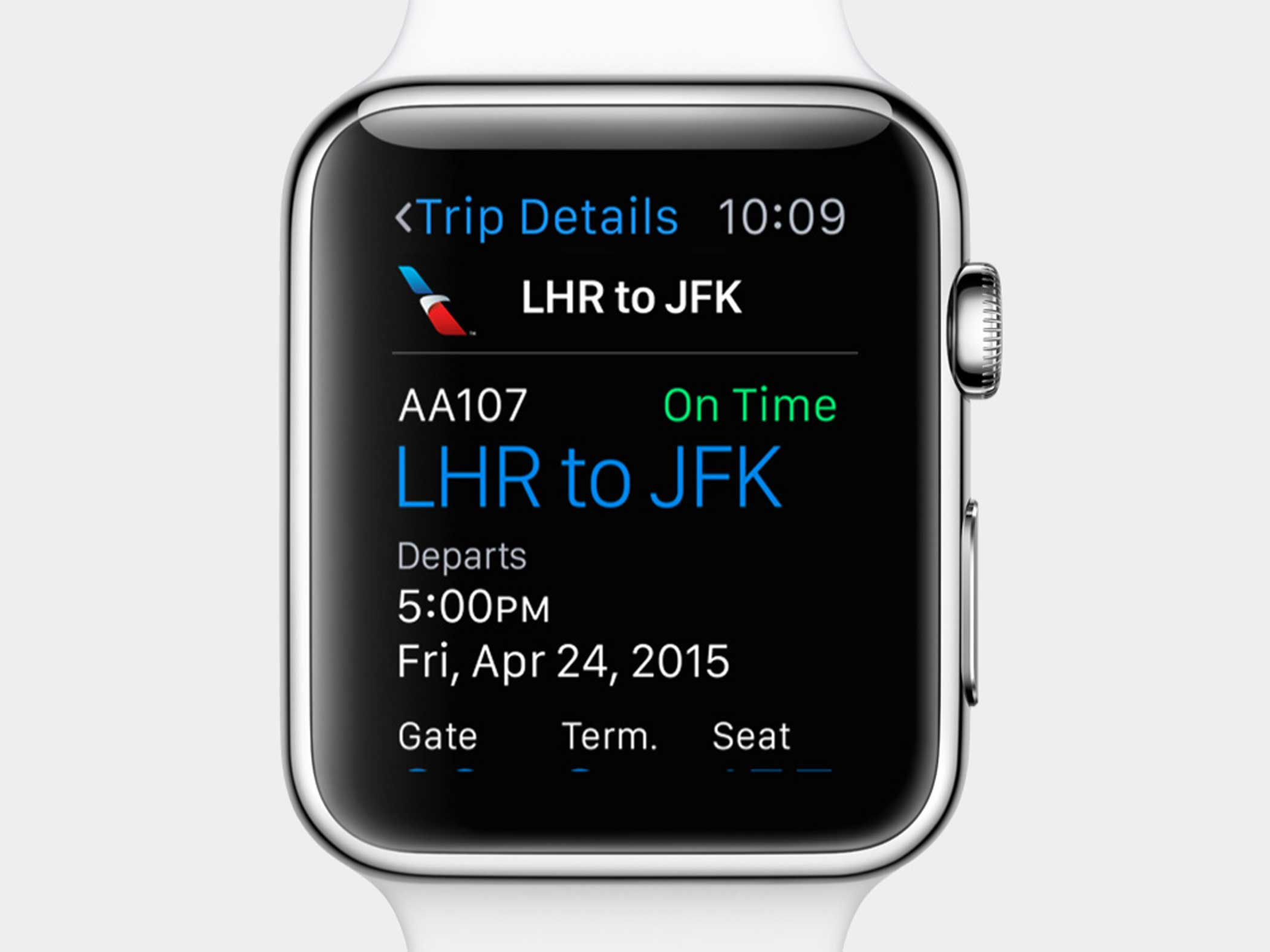 Pull your boarding pass from Passbook when you're near the airport.