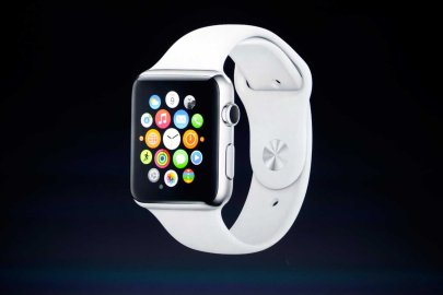 File picture shows an Apple Watch during an Apple event at the Flint Center in Cupertino