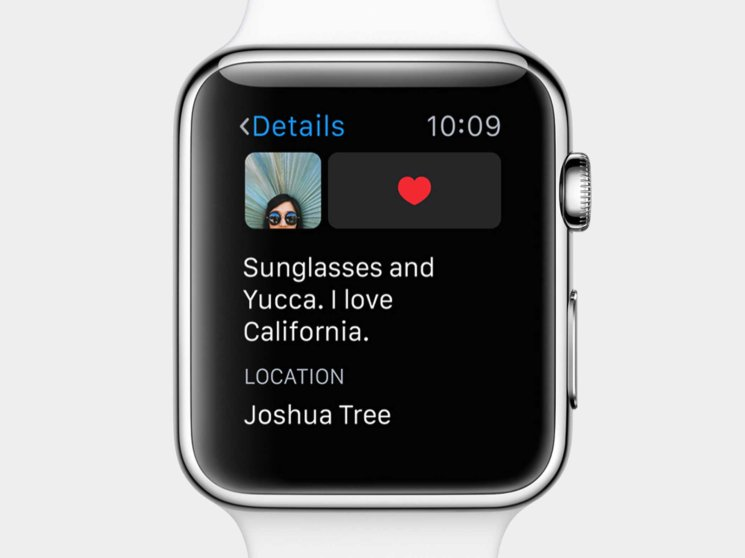 You can scroll through and like images on Instagram right from your wrist.