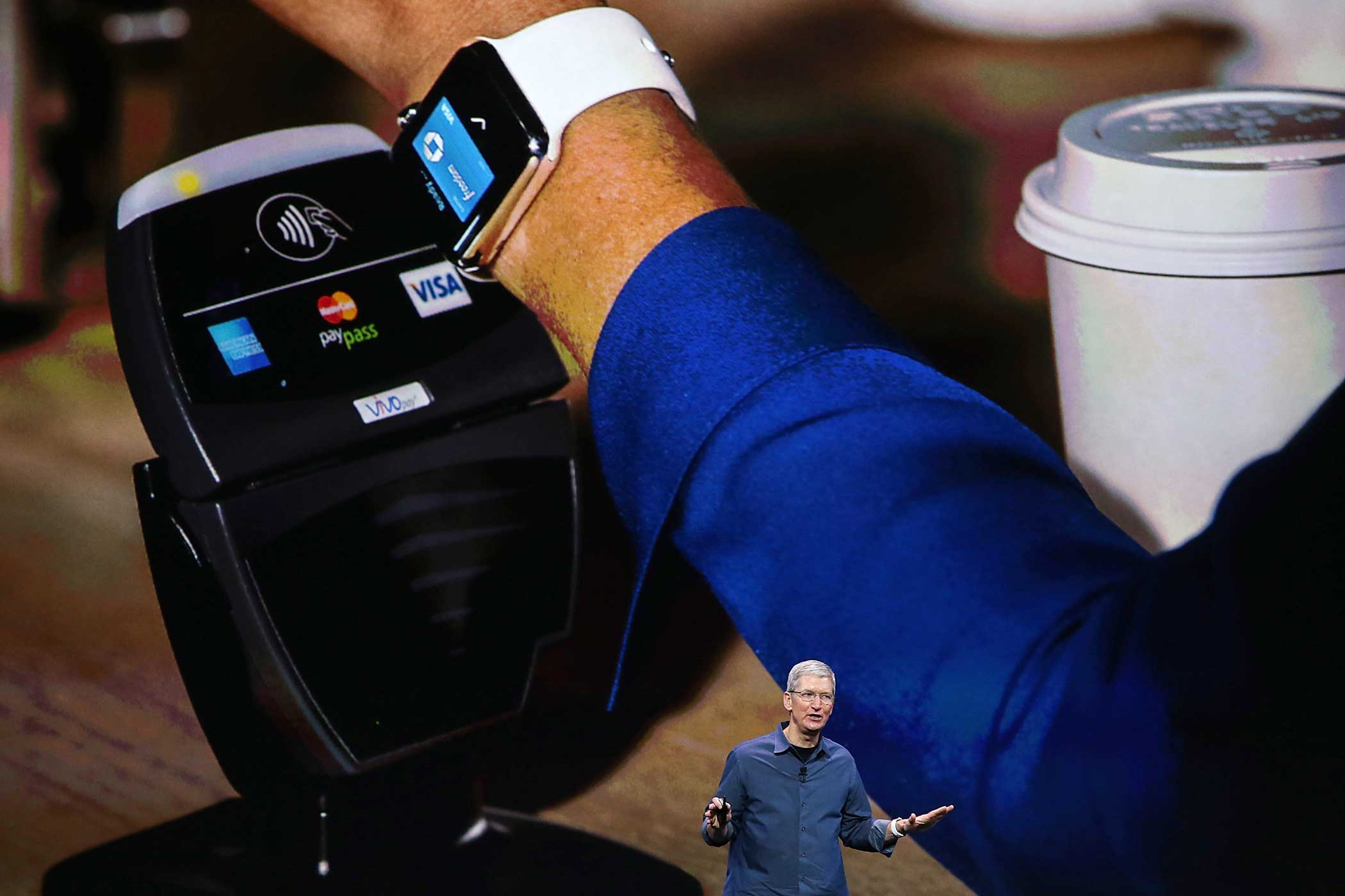 It also has Apple Pay, the company's digital payments platform. Swipe the Watch in front of a compatible kiosk and it will make an automatic online payment.