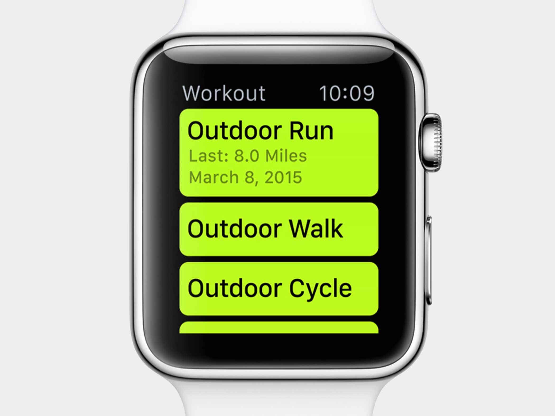 Track your fitness using the Workout app.