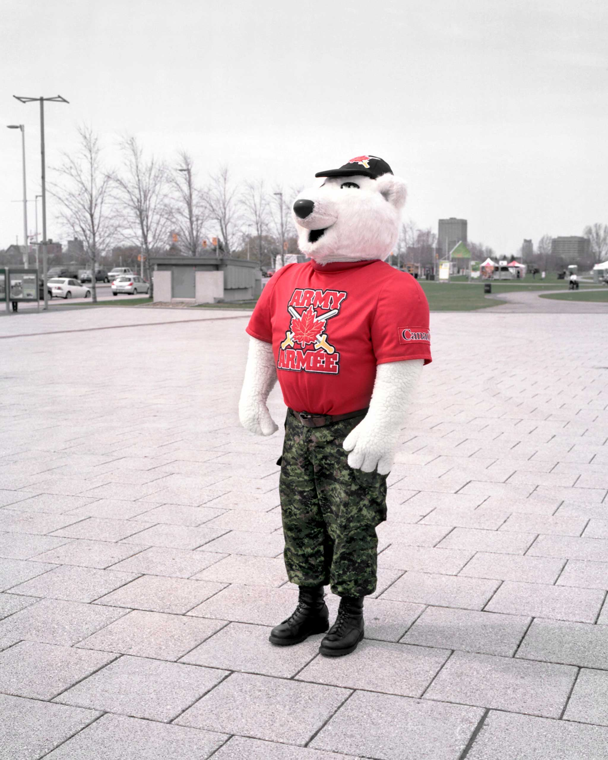 Juno, mascot of the Canadian Army