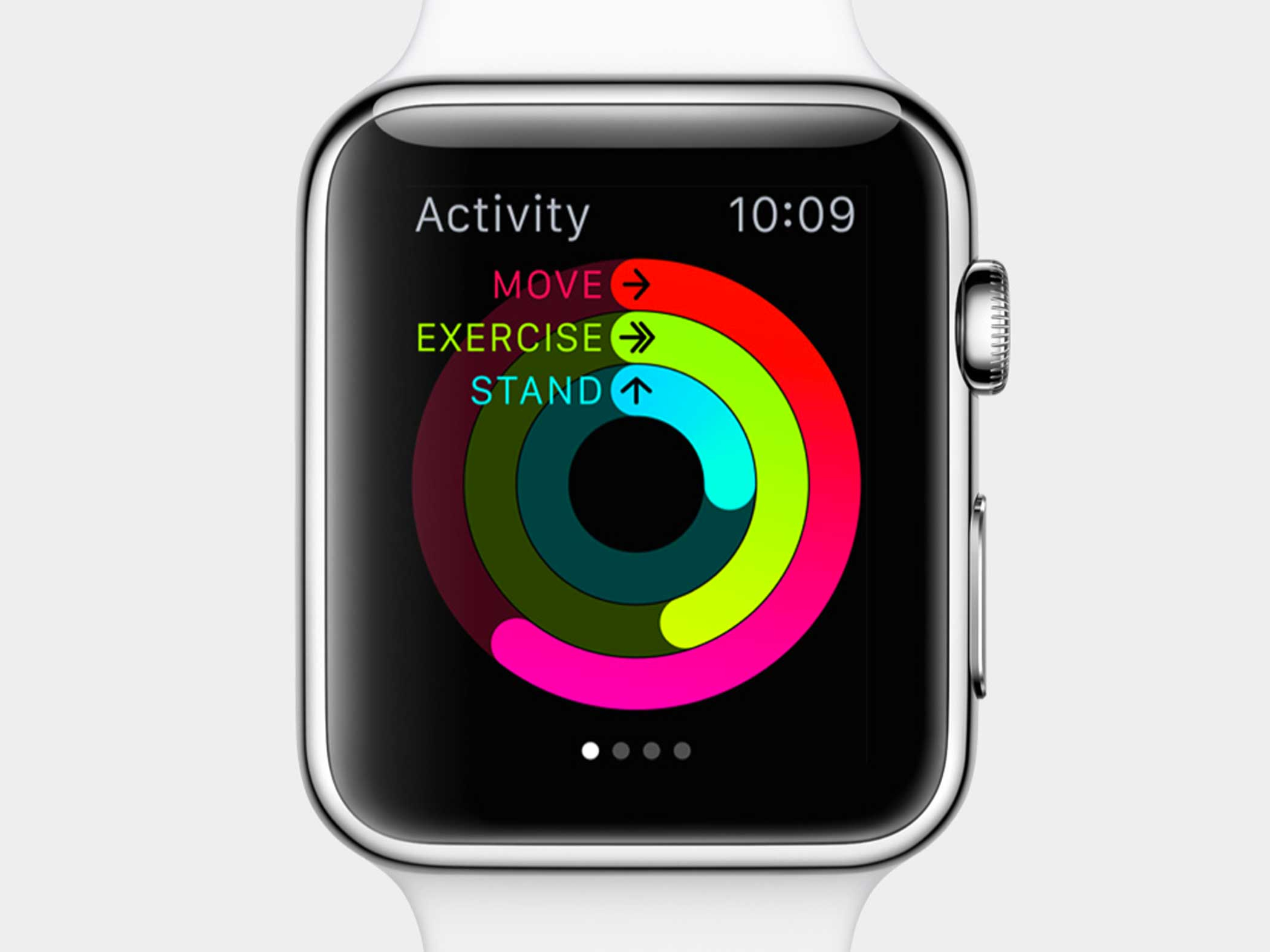 Track your activity using the Workout app.