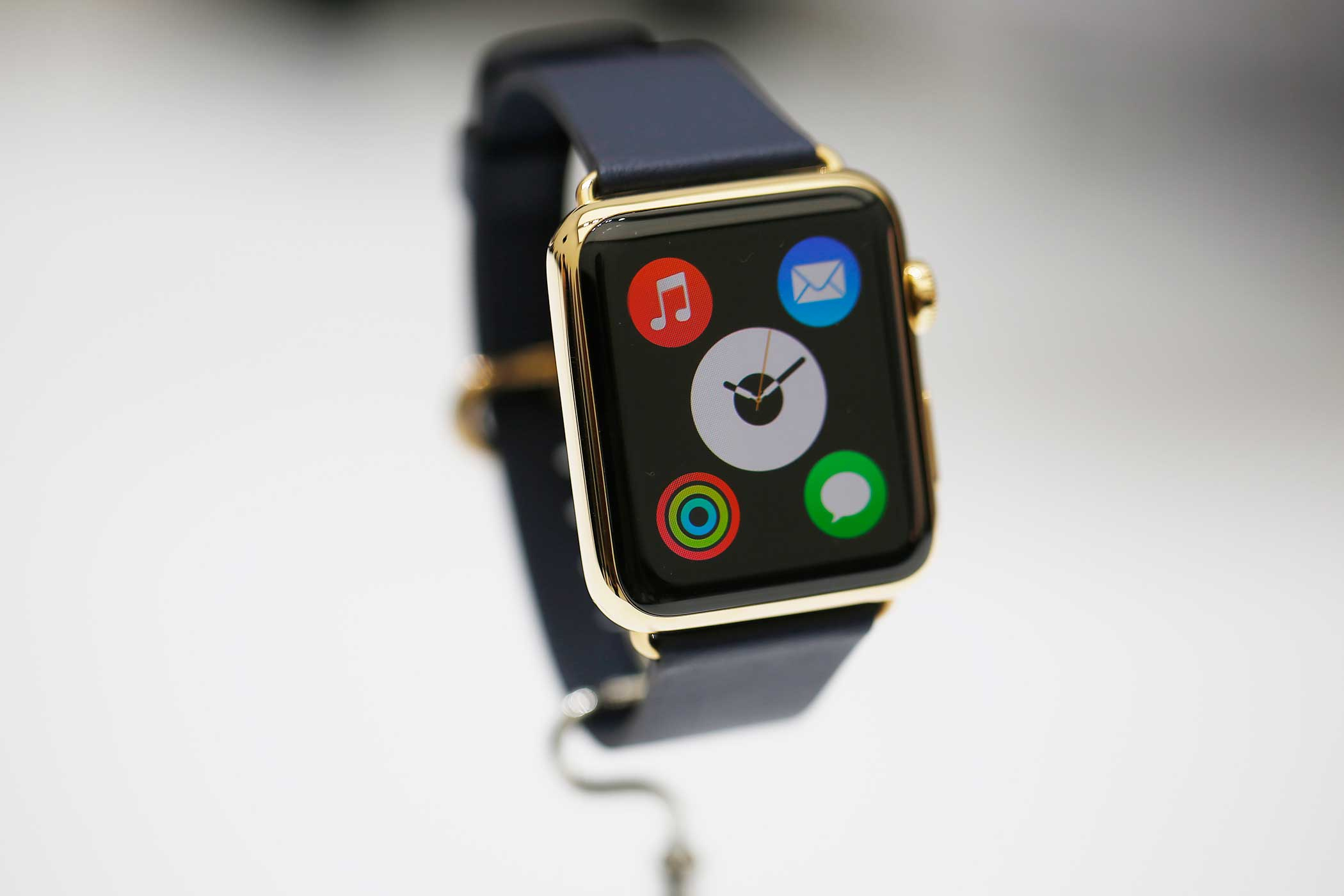 The Watch, like Apple's other iDevices, will have various independent apps. Examples include a Tesla app that shows the status of your electric car when it's charging and a Starwood app that lets the Watch act as your room key.