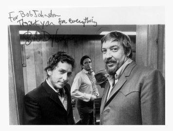 Bob Dylan, Johnny Cash and Bob Johnston.