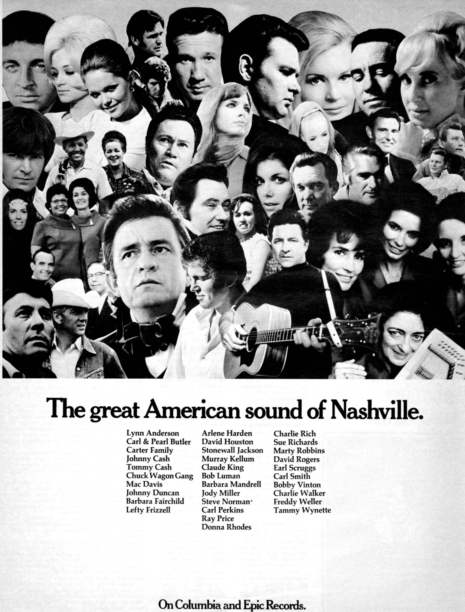 Advertisement for The Great American Sound of Nashville.