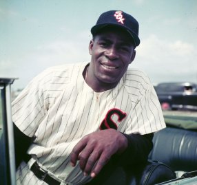 Minnie Minoso during spring training in Florida, 1954.