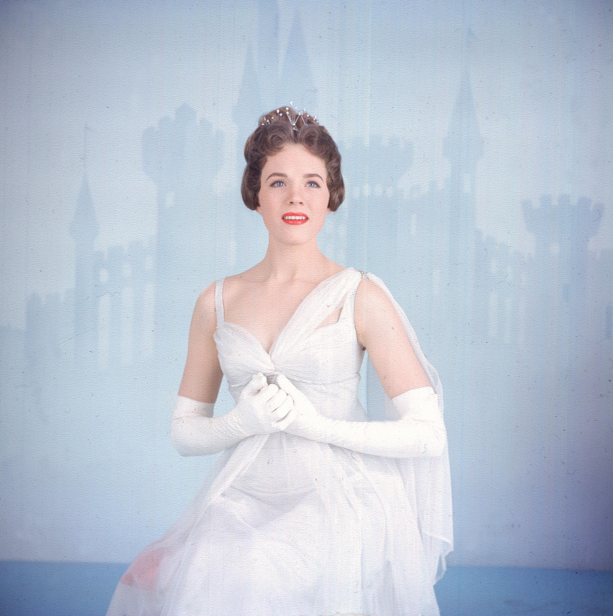 Julie Andrews as Cinderella, 1957.