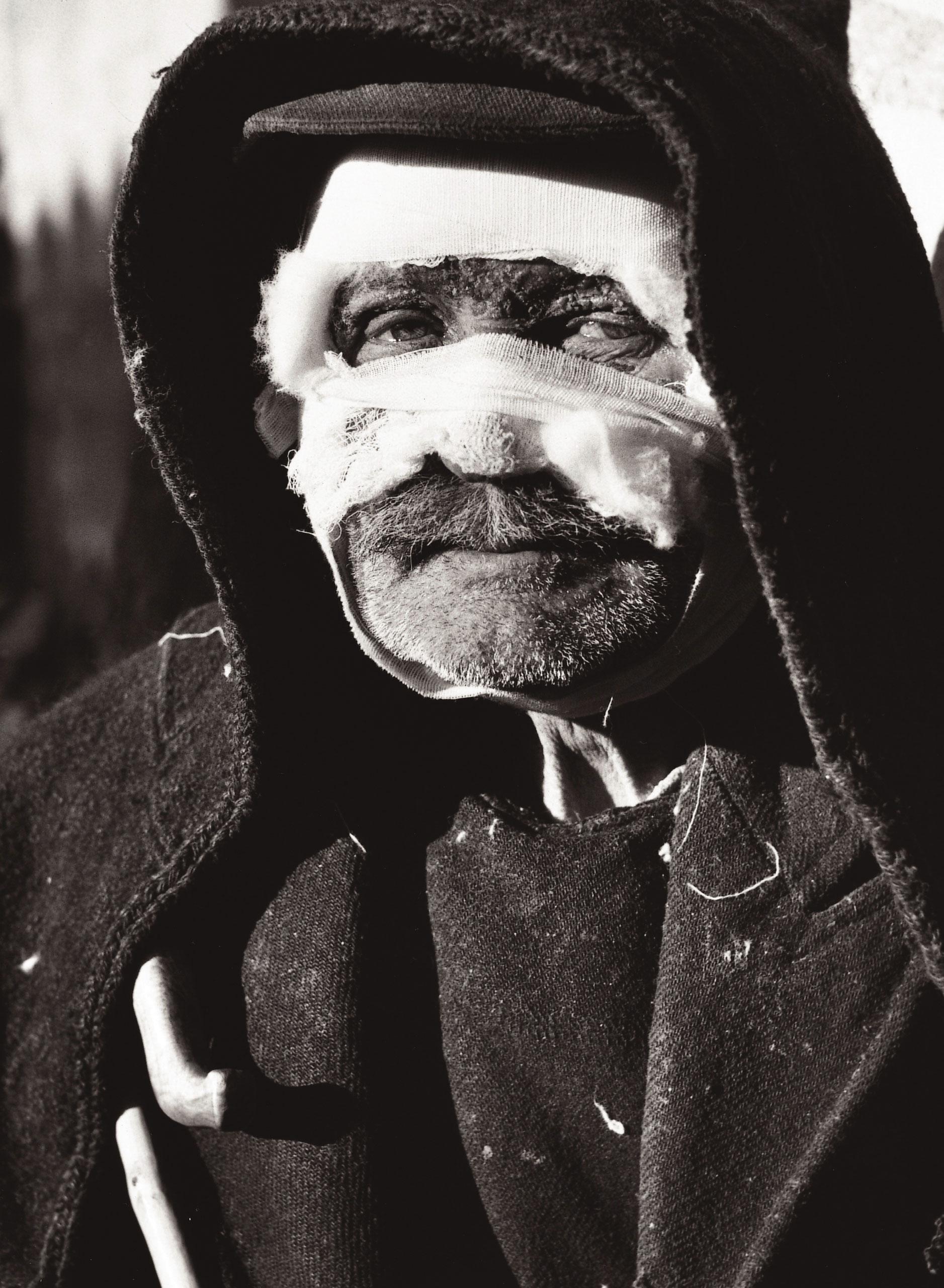Tortured shepherd, Greek Civil War, 1949.