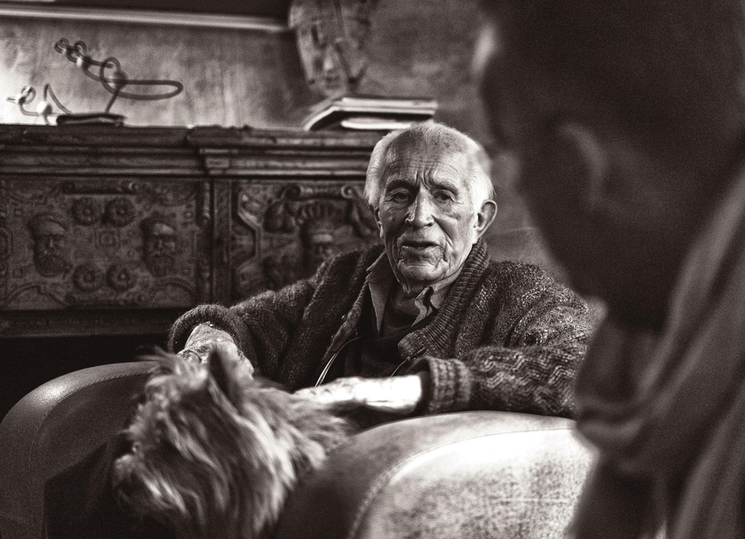 Photographer David Douglas Duncan on his 98th birthday. January 23, 2014, Castellaras le Vieux, France.