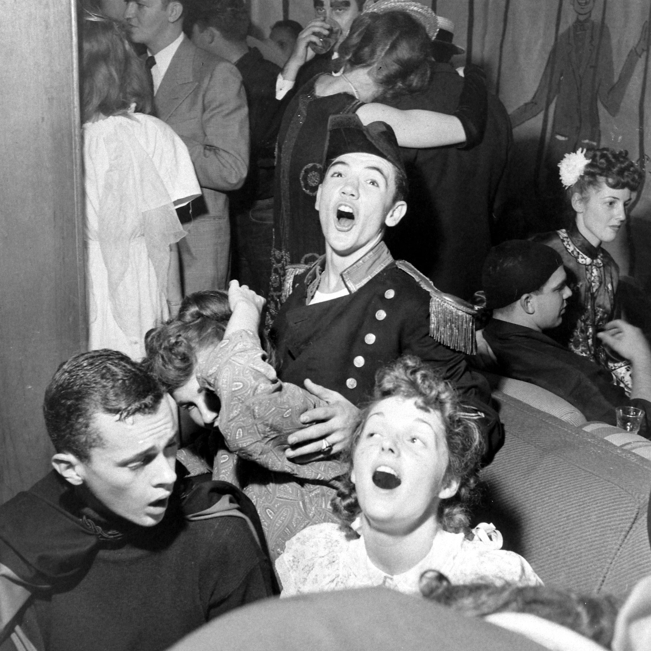 Sigma Alpha Epsilon Circus party at the University of California, Los Angeles in 1946.