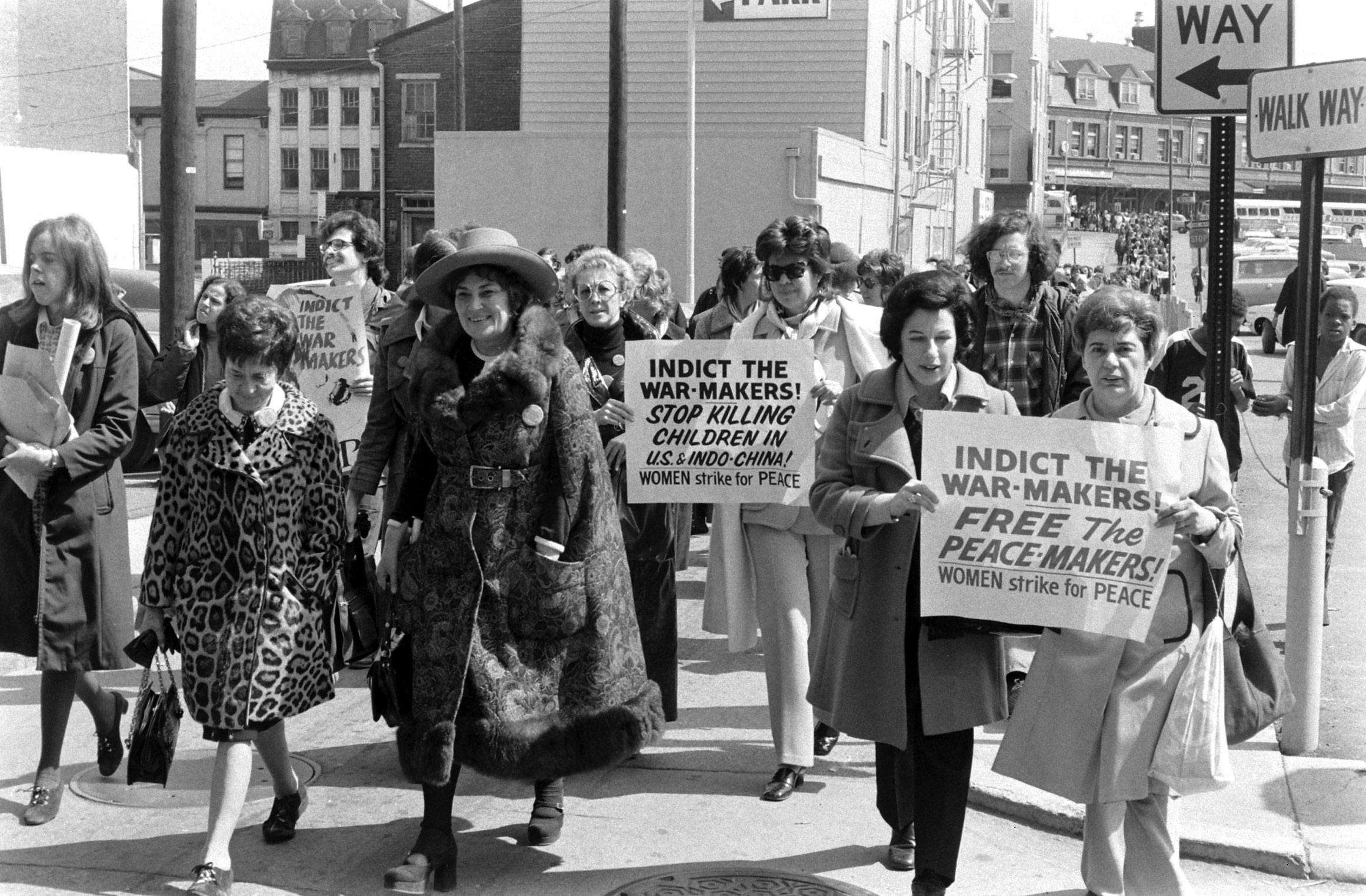 Bella Abzug during a peace march, 1972.
