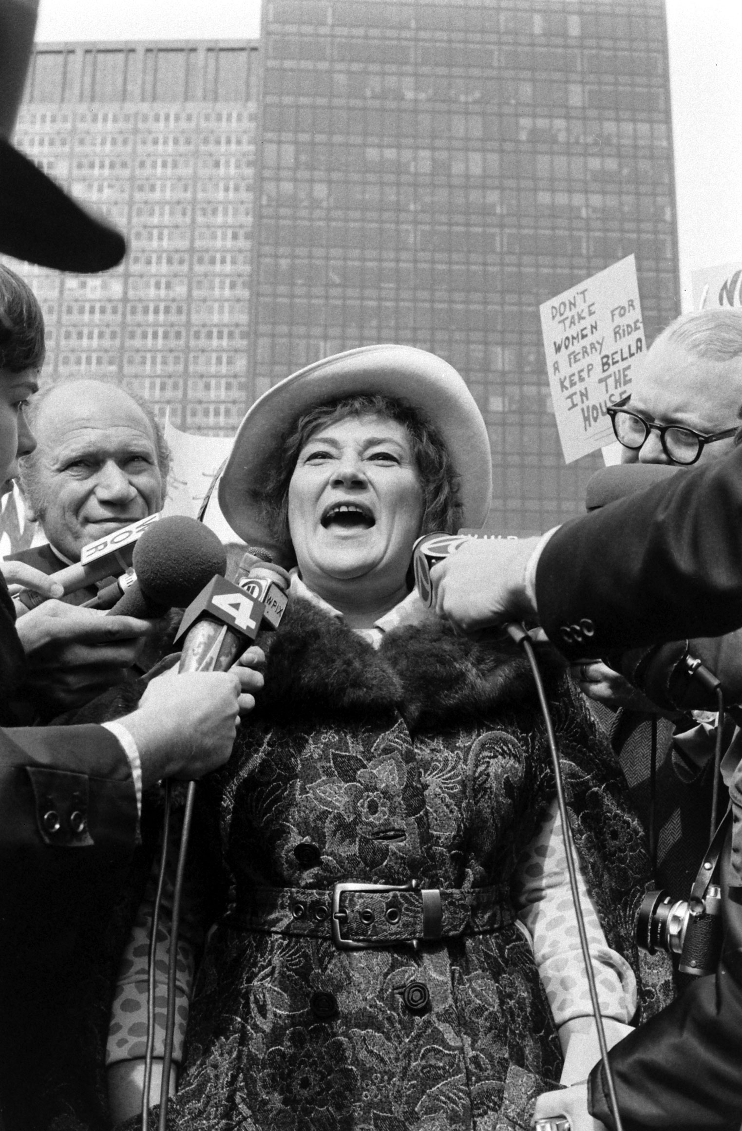 Bella Abzug on the campaign trail, 1972.