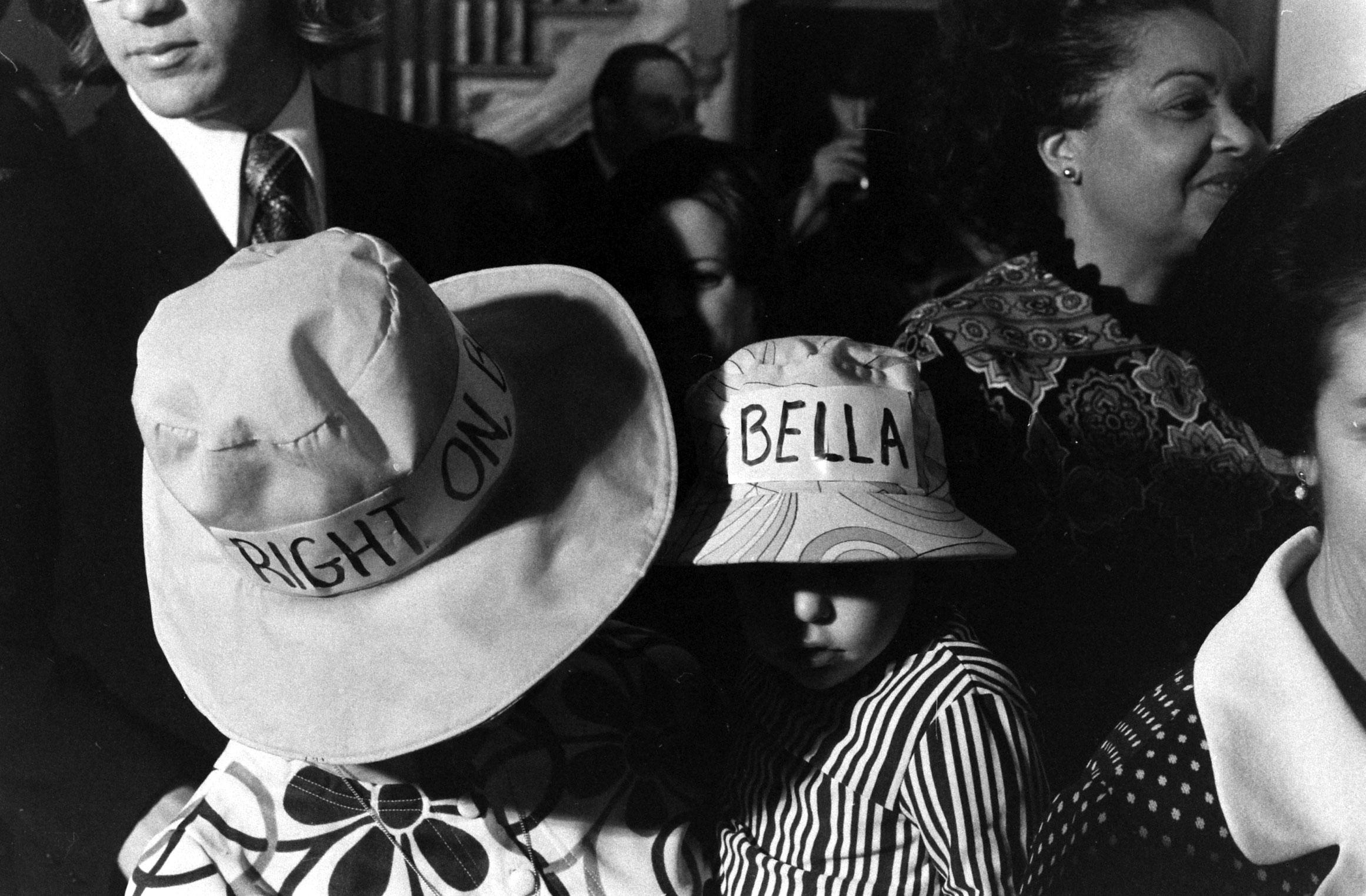 Supporters of Bella Abzug, 1972.