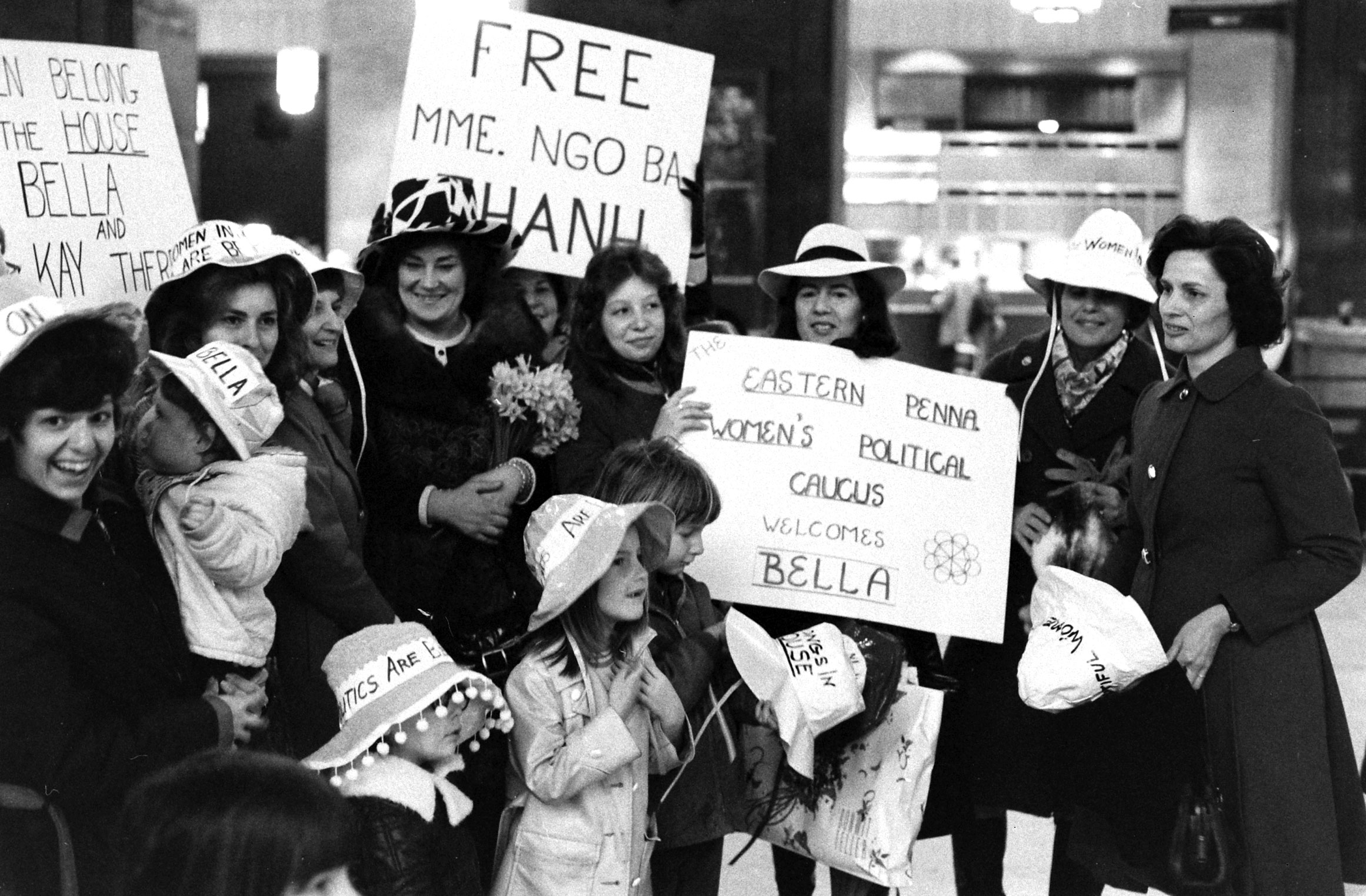 Bella Abzug and supporters, 1972.