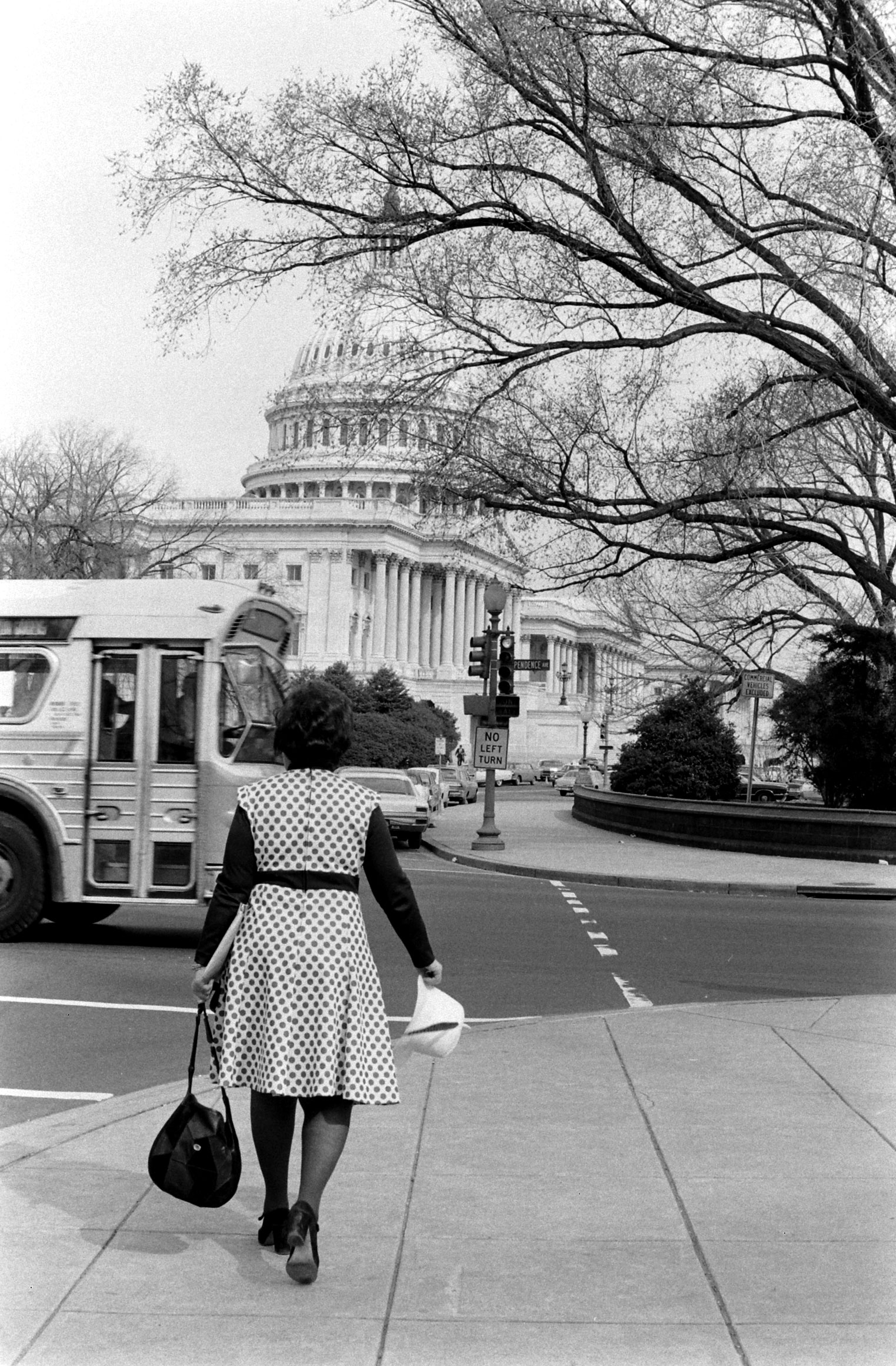 Bella Abzug by the Capitol Building, 1972.