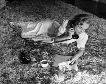 Carole Lombard on the phone, 1938.