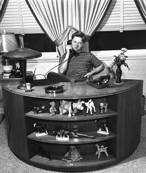 Mickey Rooney on the phone, 1939.