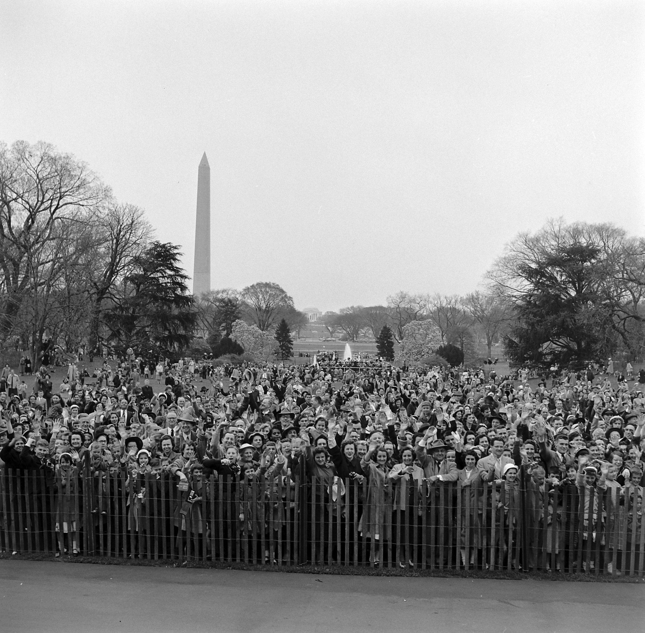 White House Easter egg roll, April 1953.