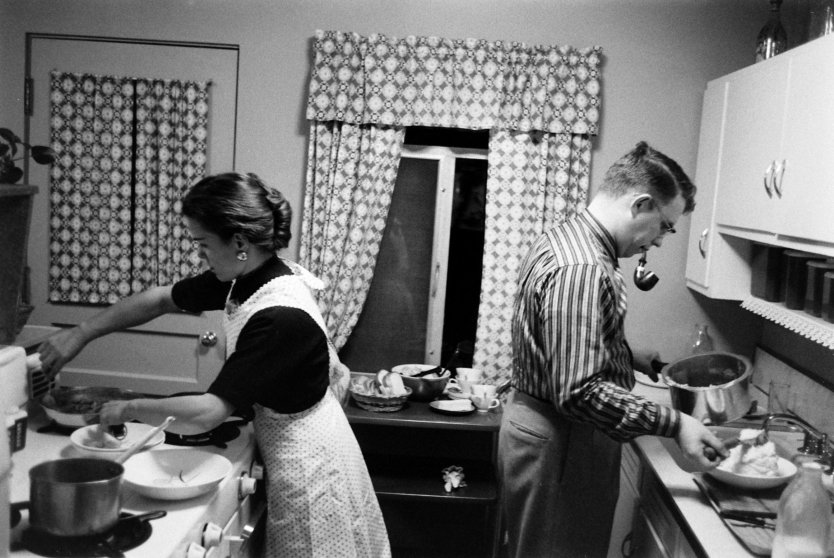 Jennie and Jim Magill in the kitchen.